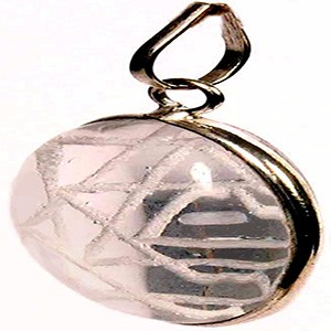 A crystal Shri Yantra locket