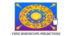 Symbols of the zodiac placed in a circle around the sun with eight orbital stars.