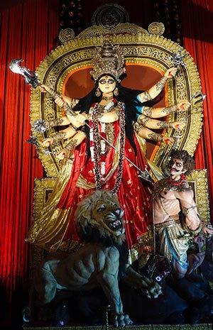 The Hindu goddess, Durga.