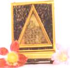 A framed Mangal Yantra talisman
