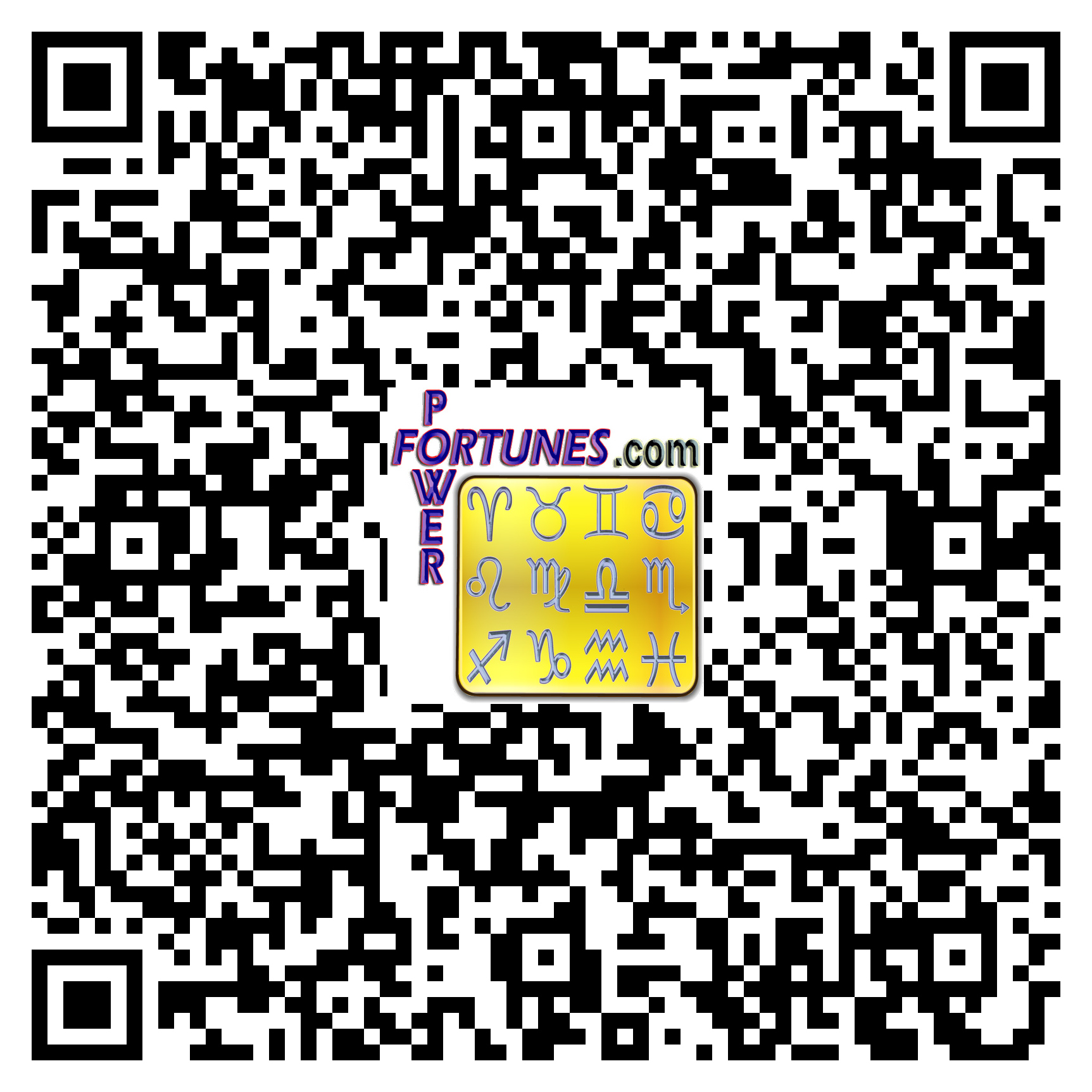 PowerFortunes.com QR Code