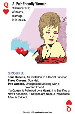 Queen of Hearts, the fortune telling card for Scorpio for this week.