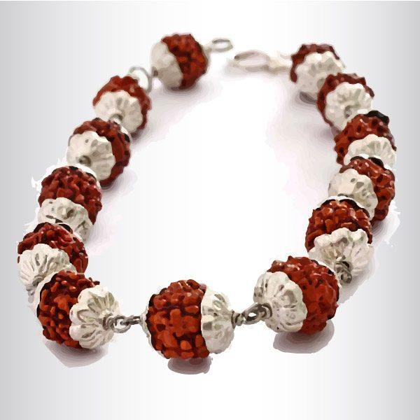 A rudraksh bracelet