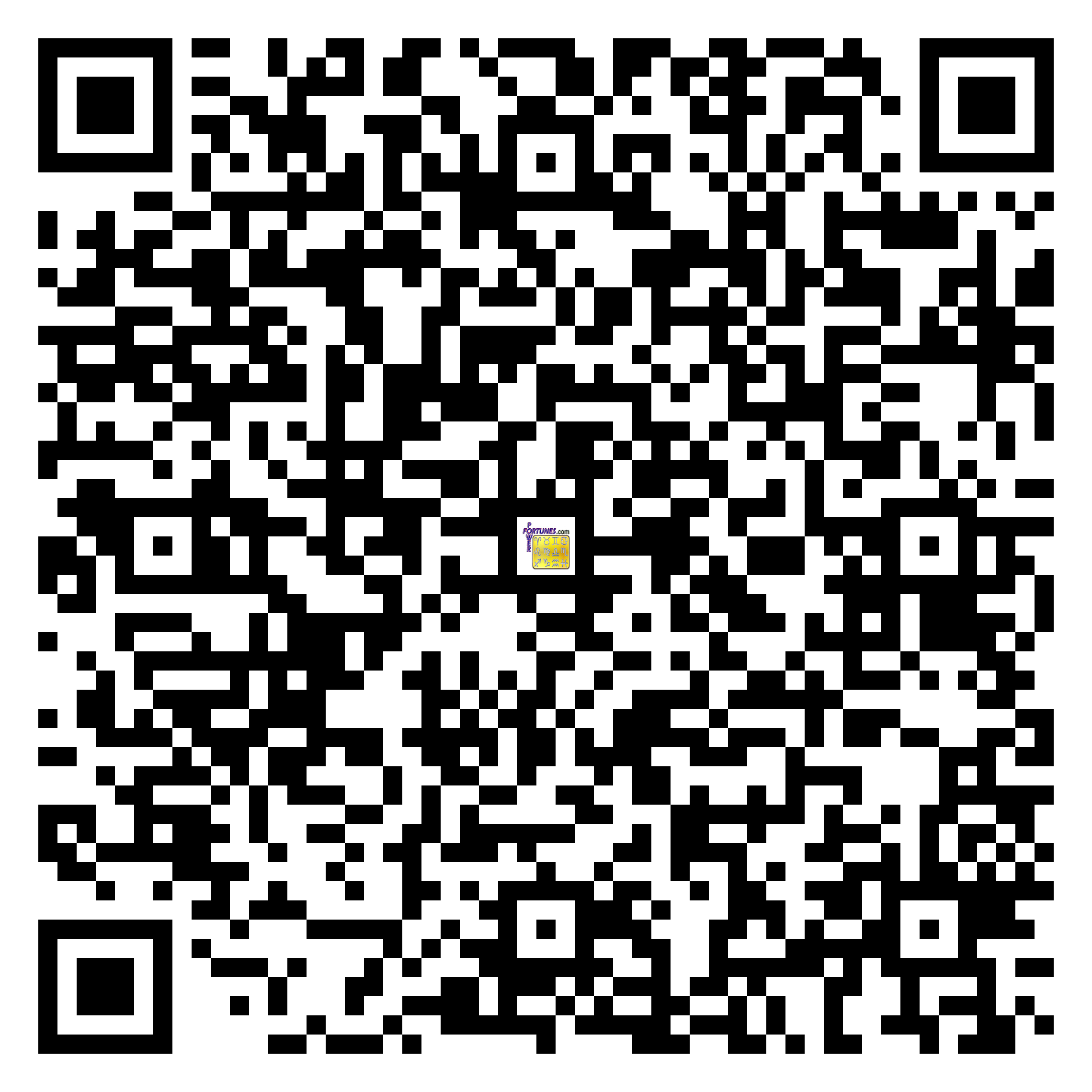 Download QR Code for PowerFortunes.com SKU# Pwr.bd46X30-s