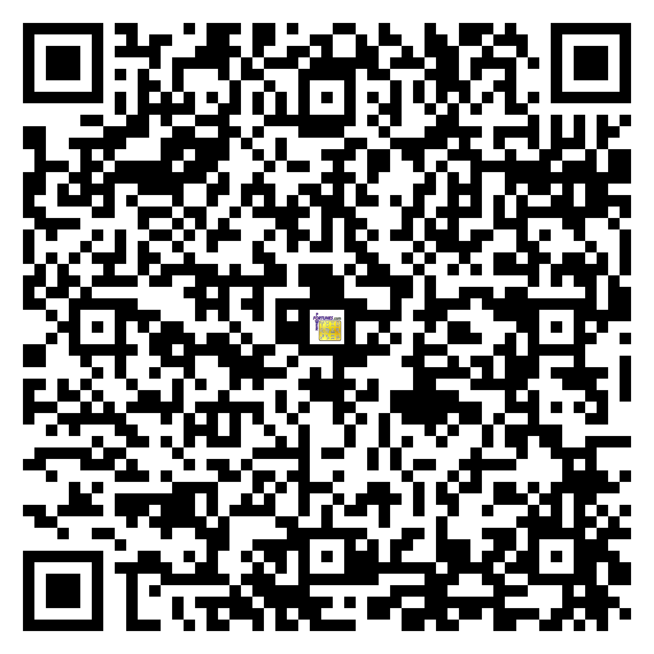 Download QR Code for PowerFortunes.com SKU# Pwr.bd47X53-s