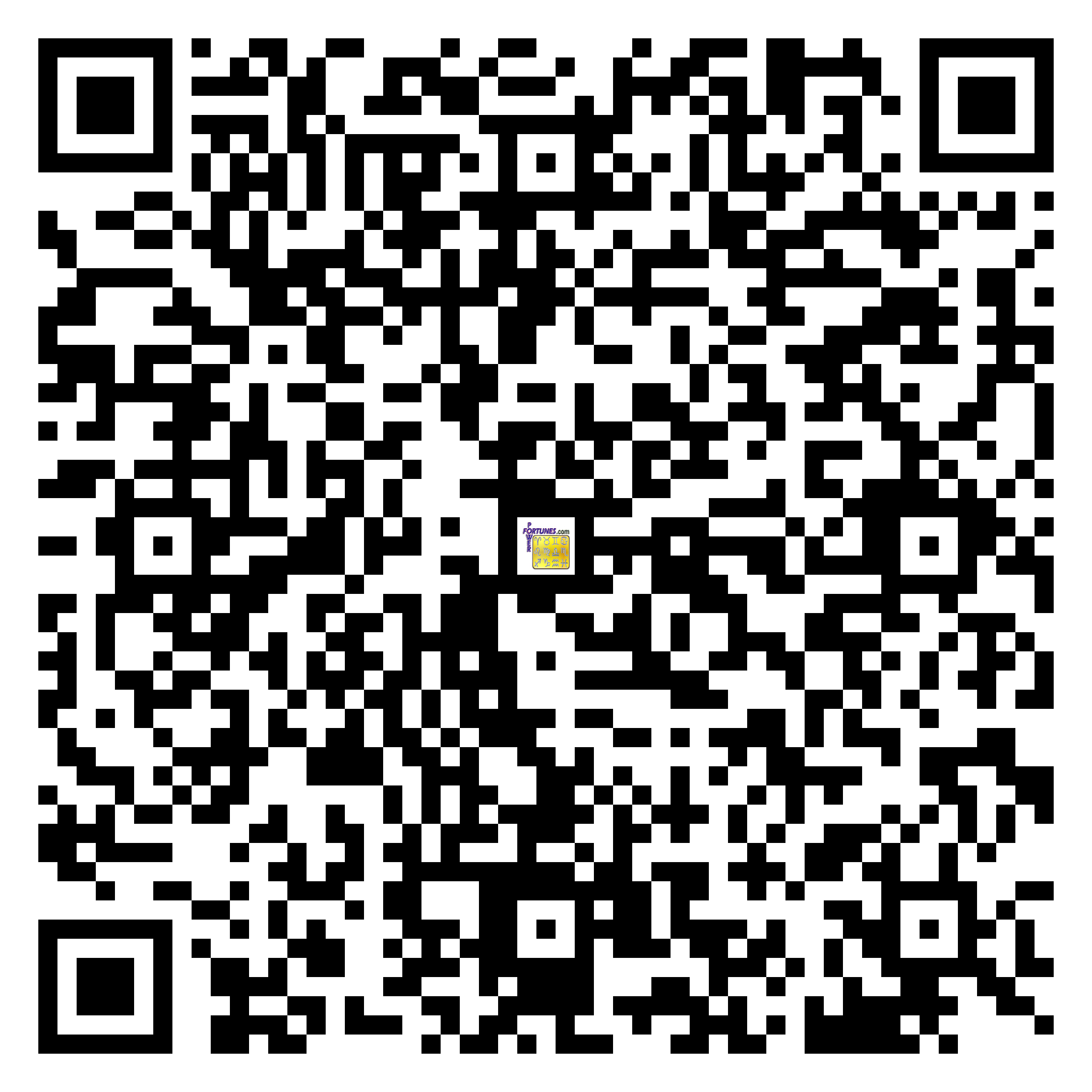 Download QR Code for PowerFortunes.com SKU# Pwr.bd48X31-m