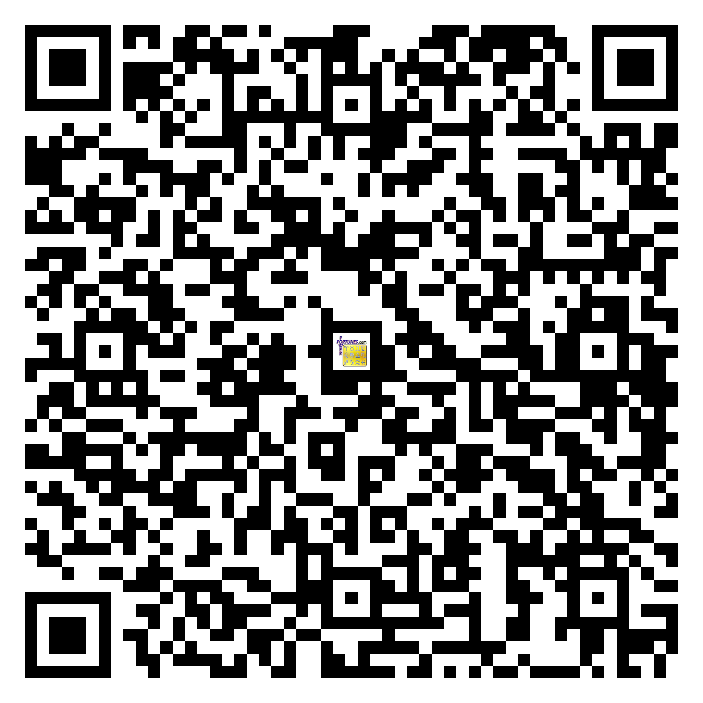 Download QR Code for PowerFortunes.com SKU# Pwr.bd49X32-m