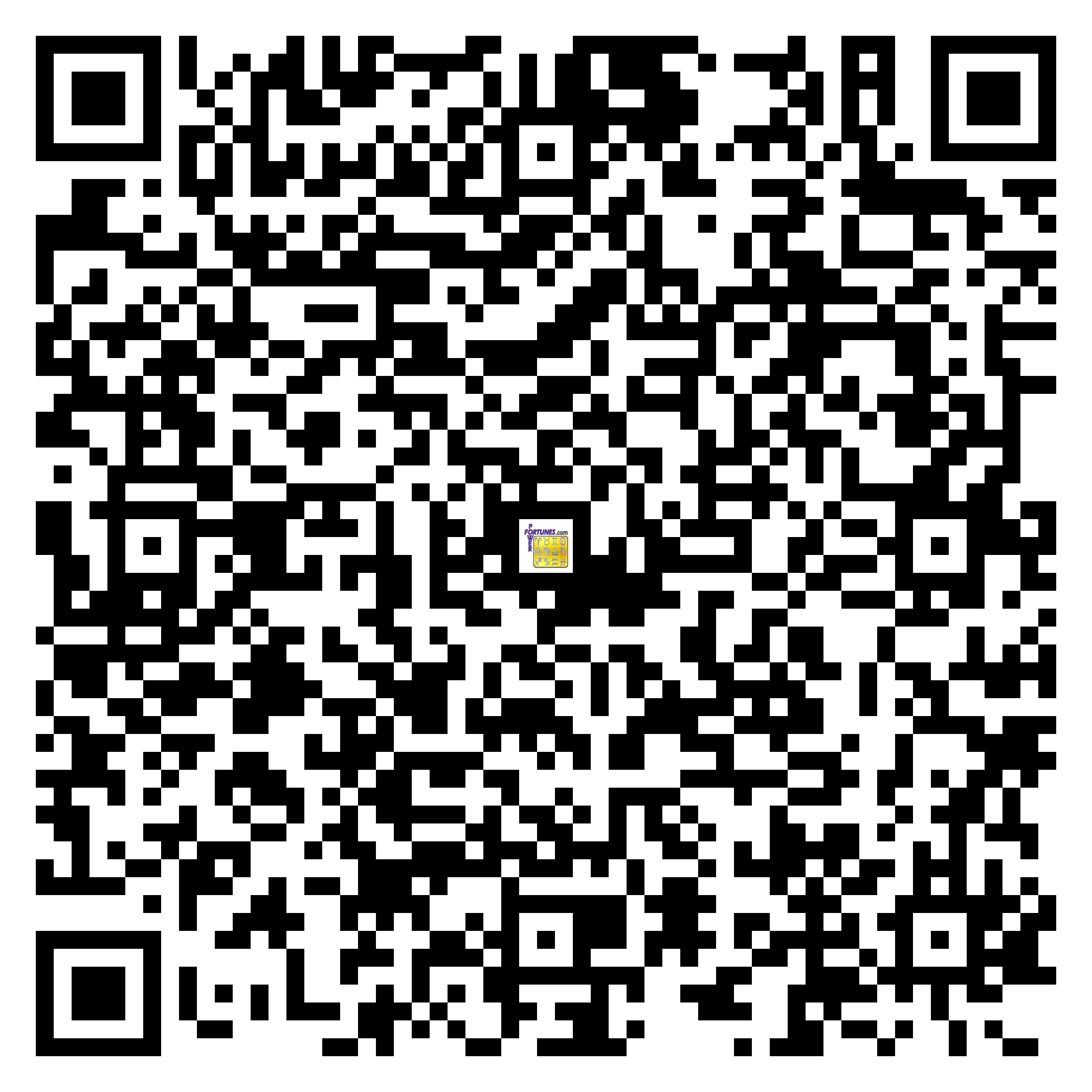 Download QR Code for PowerFortunes.com SKU# Pwr.bd51X180-s
