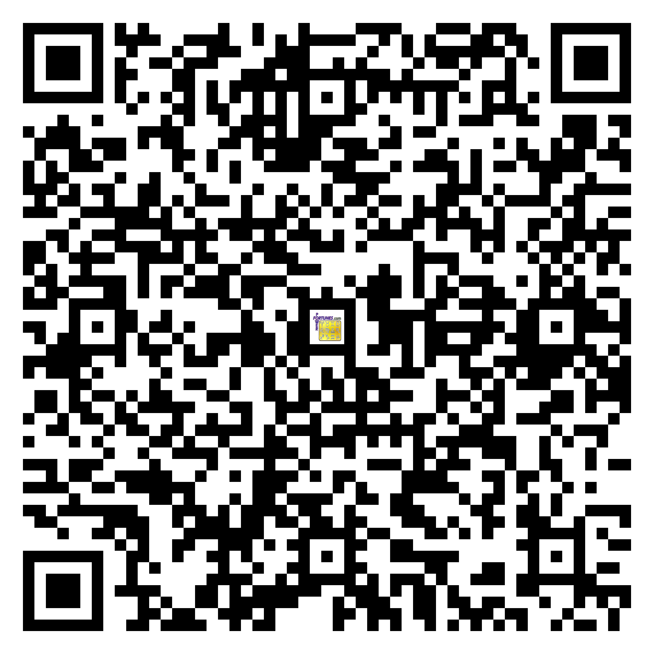 Download QR Code for PowerFortunes.com SKU# Pwr.br71X88-s