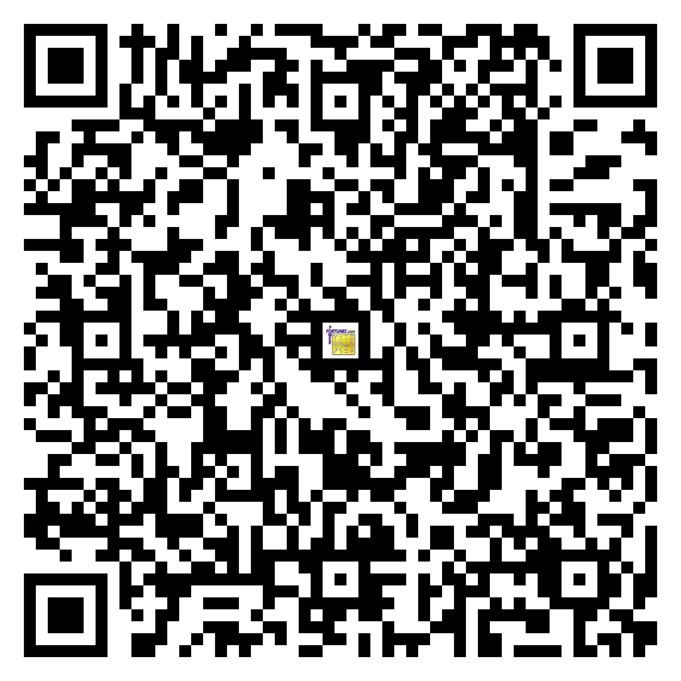 Download QR Code for PowerFortunes.com SKU# Pwr.br72X94-s