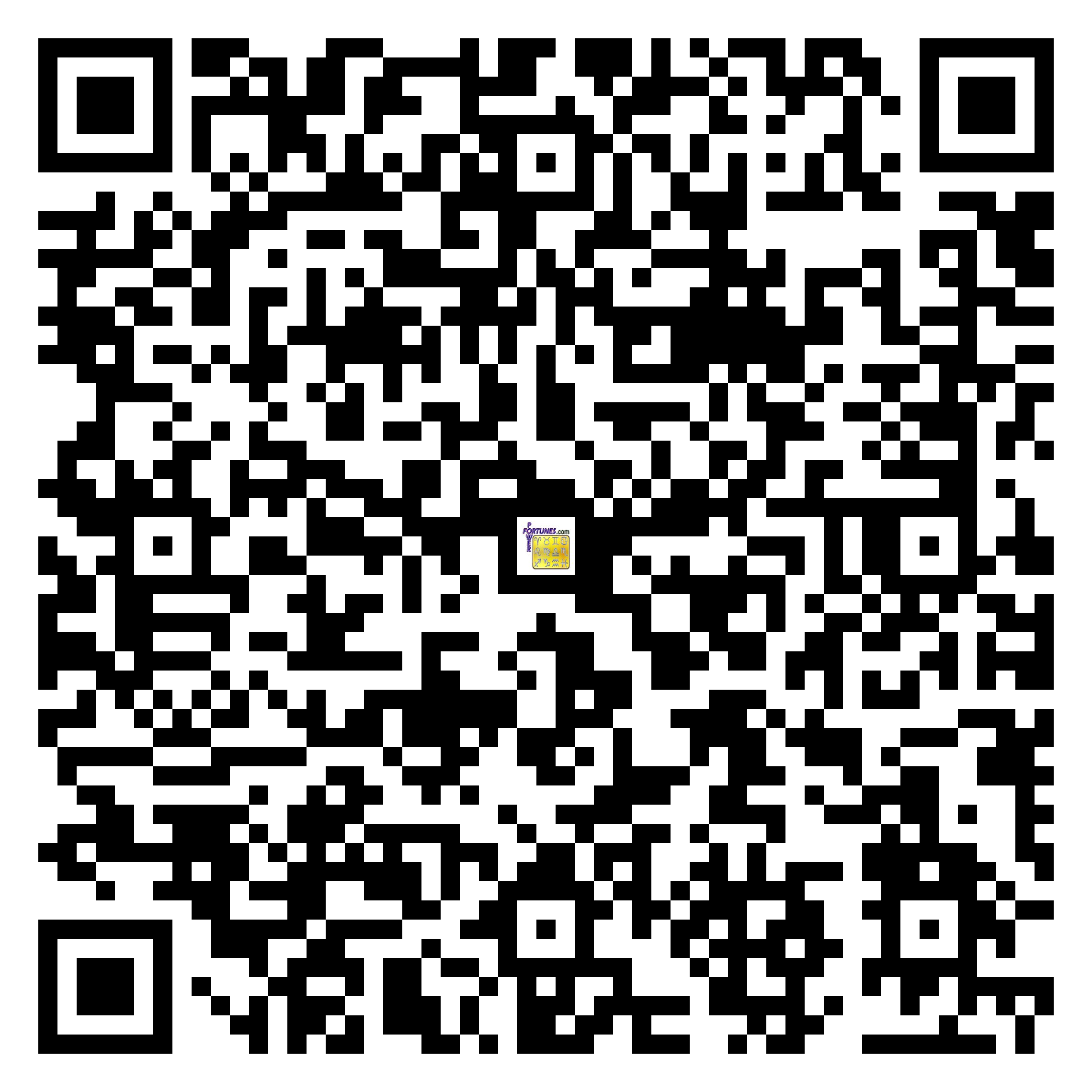Download QR Code for PowerFortunes.com SKU# Pwr.cr91X29-s