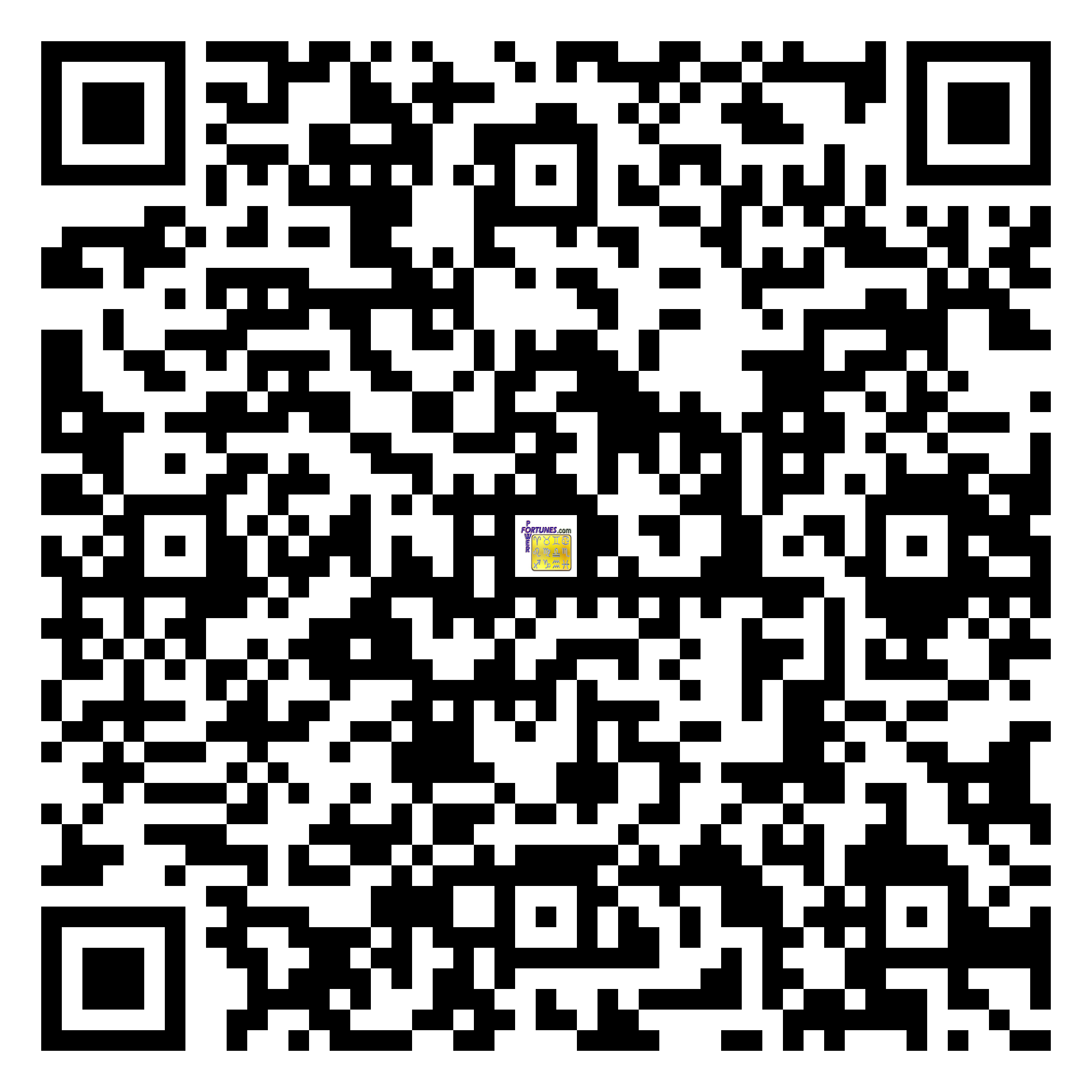 Download QR Code for PowerFortunes.com SKU# Pwr.fy01X06-m