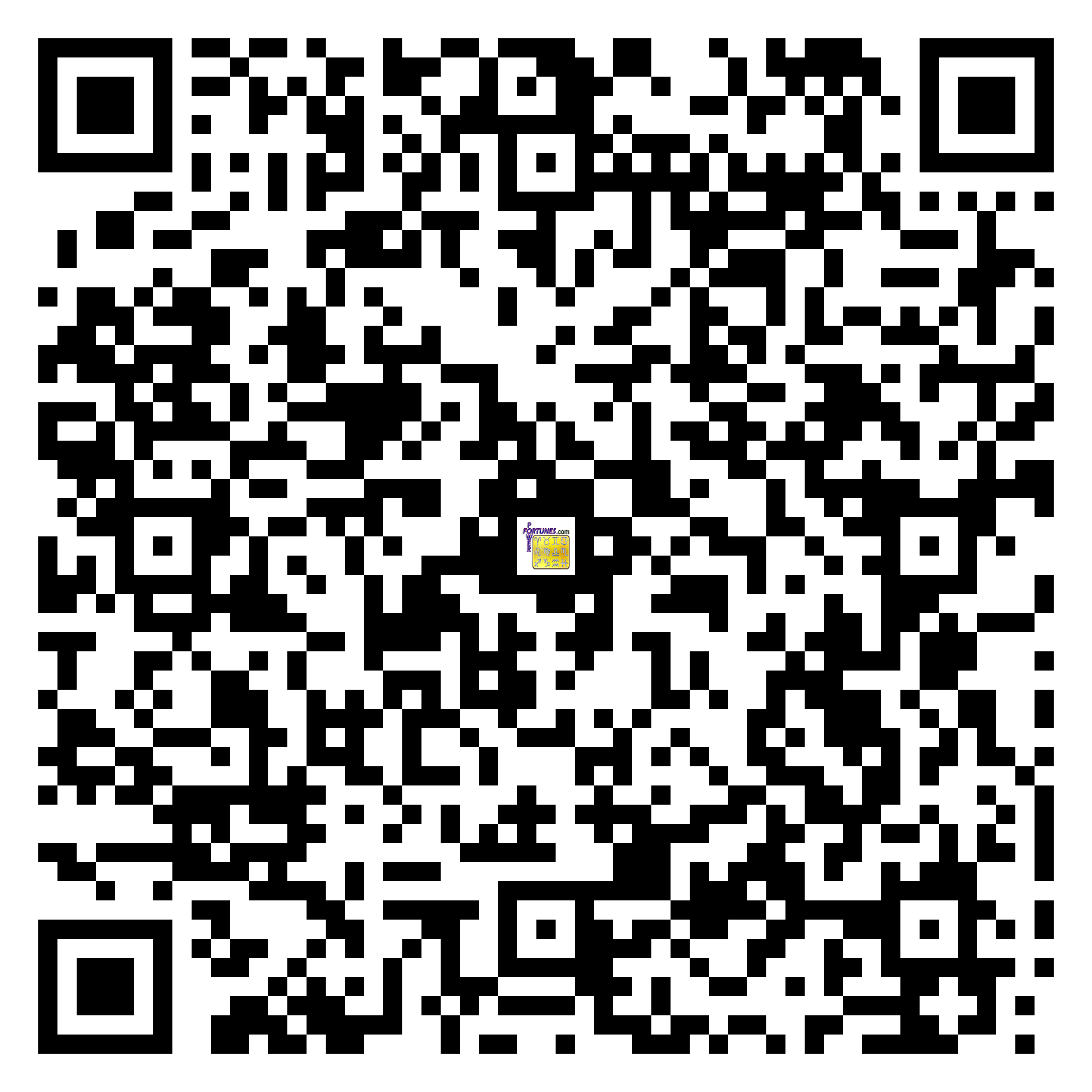 Download QR Code for PowerFortunes.com SKU# Pwr.fy02X47-m