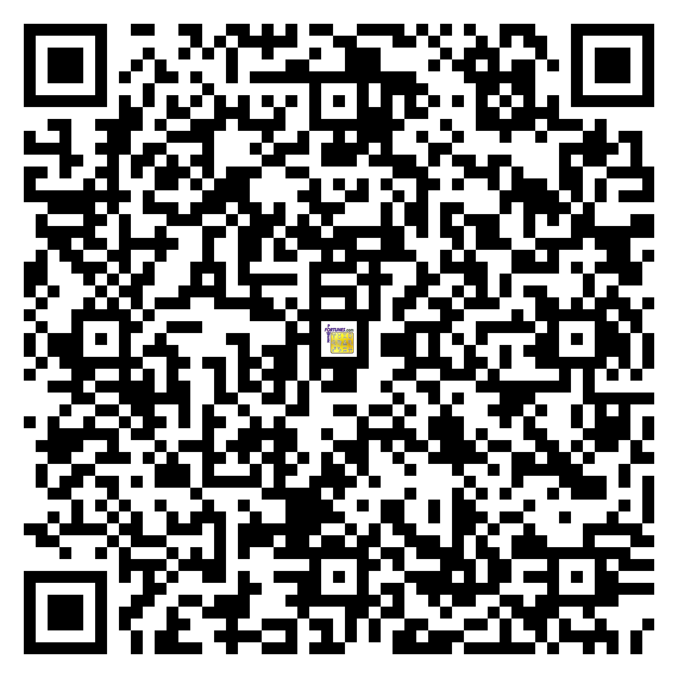 Download QR Code for PowerFortunes.com SKU# Pwr.fy03X05-m