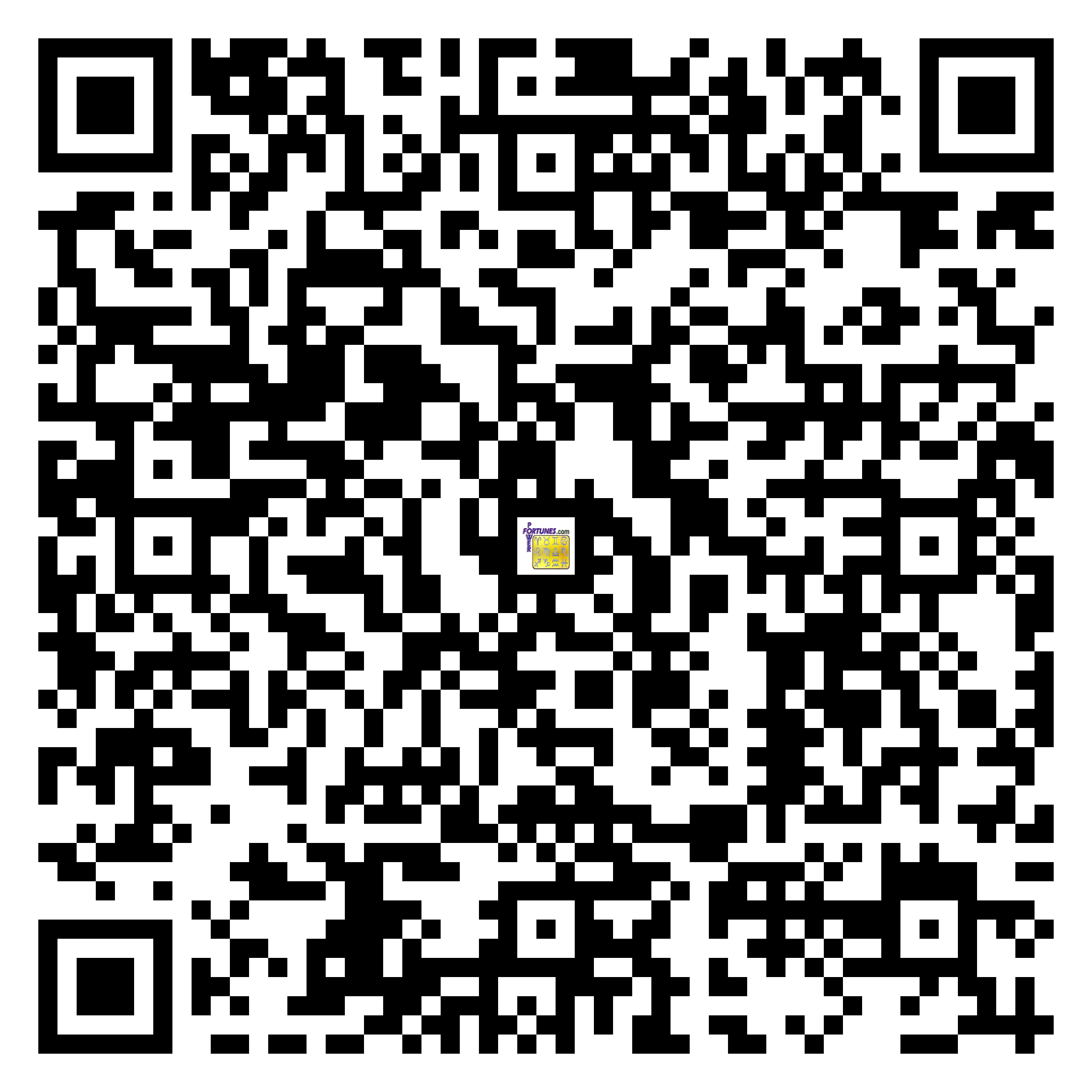Download QR Code for PowerFortunes.com SKU# Pwr.fy04X34-m