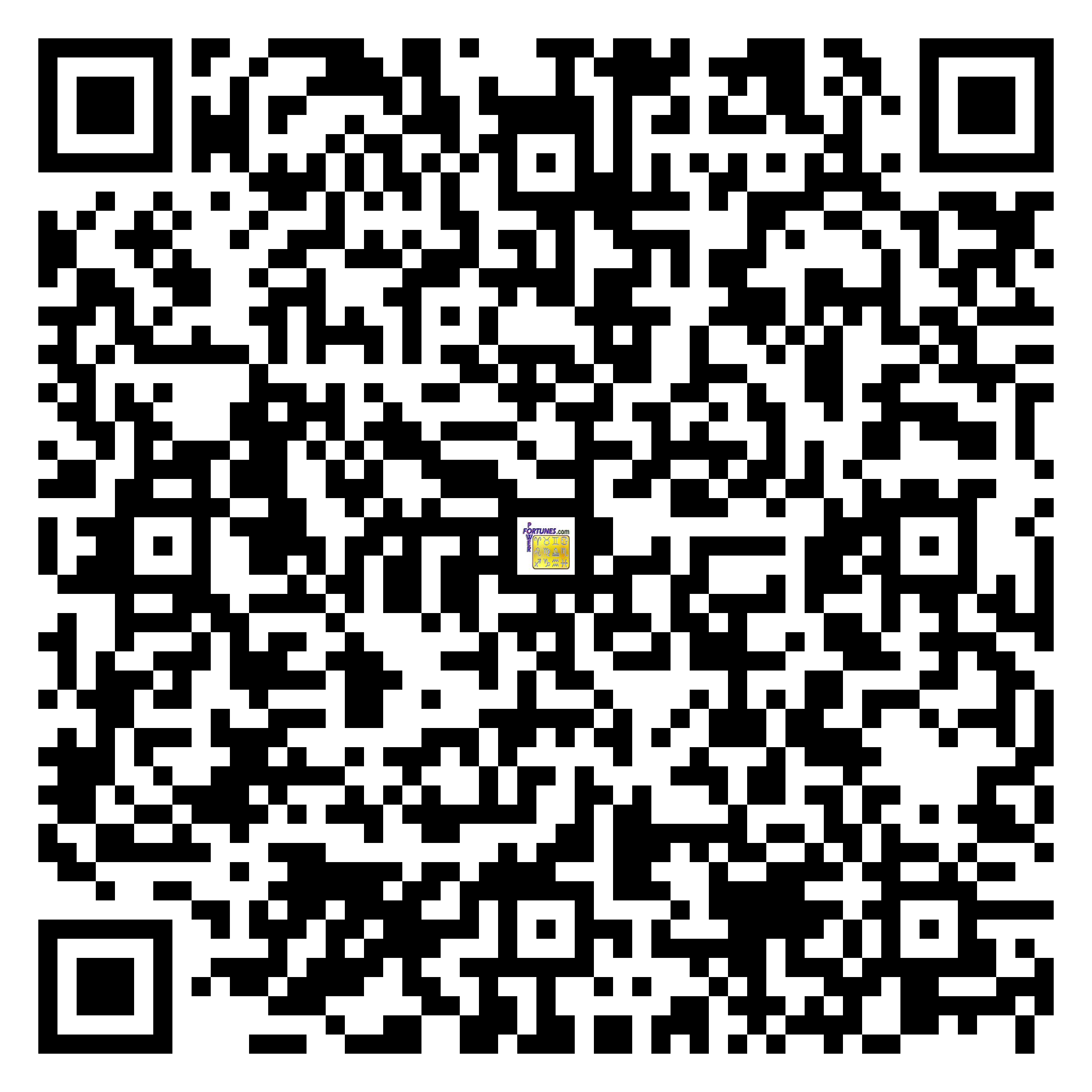 Download QR Code for PowerFortunes.com SKU# Pwr.fy05X40-m