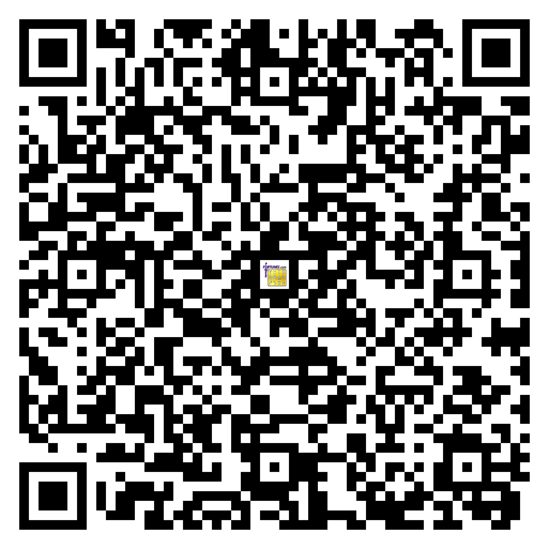 Download QR Code for PowerFortunes.com SKU# Pwr.fy07X16-m