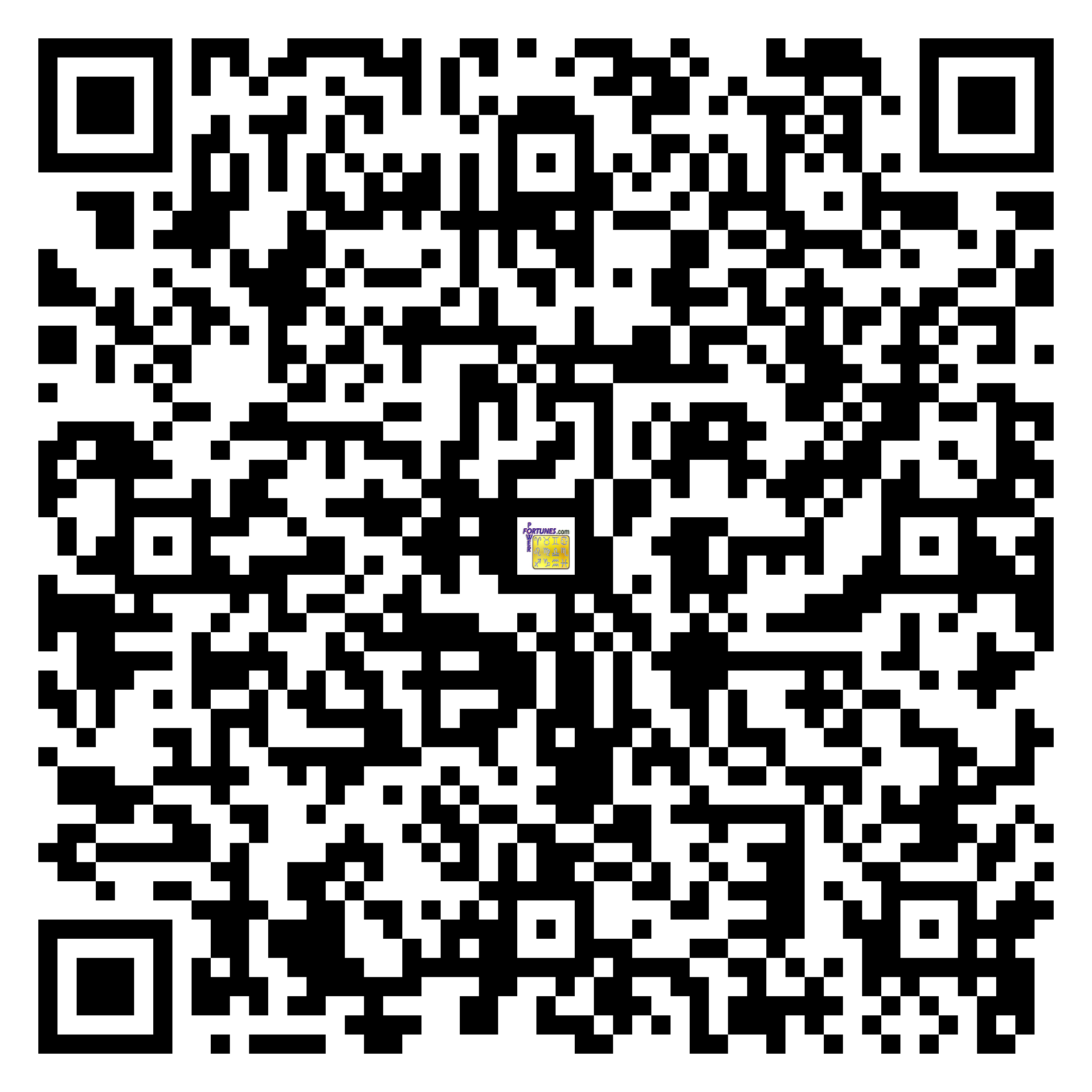 Download QR Code for PowerFortunes.com SKU# Pwr.fy08X21-m