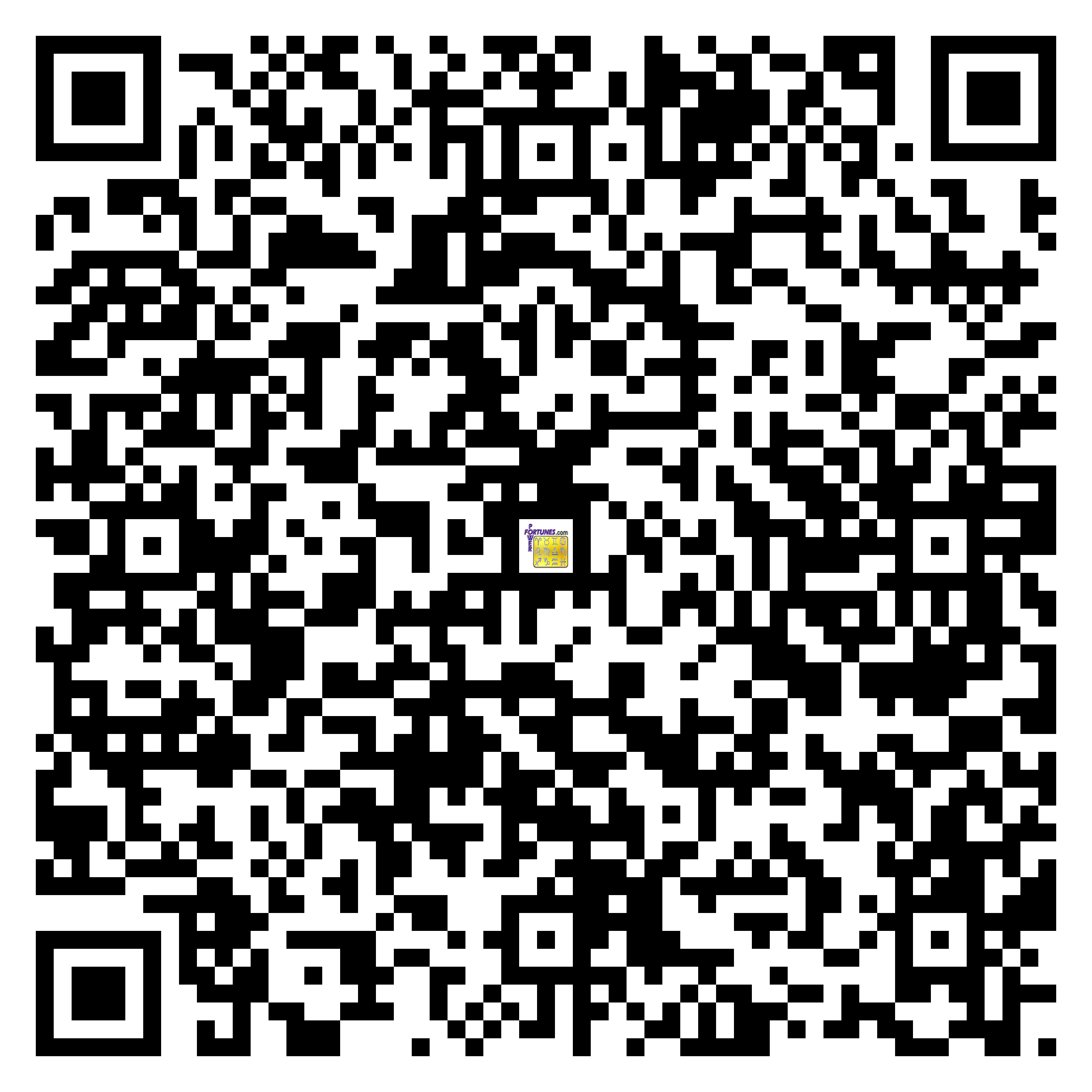Download QR Code for PowerFortunes.com SKU# Pwr.fy09X19-m