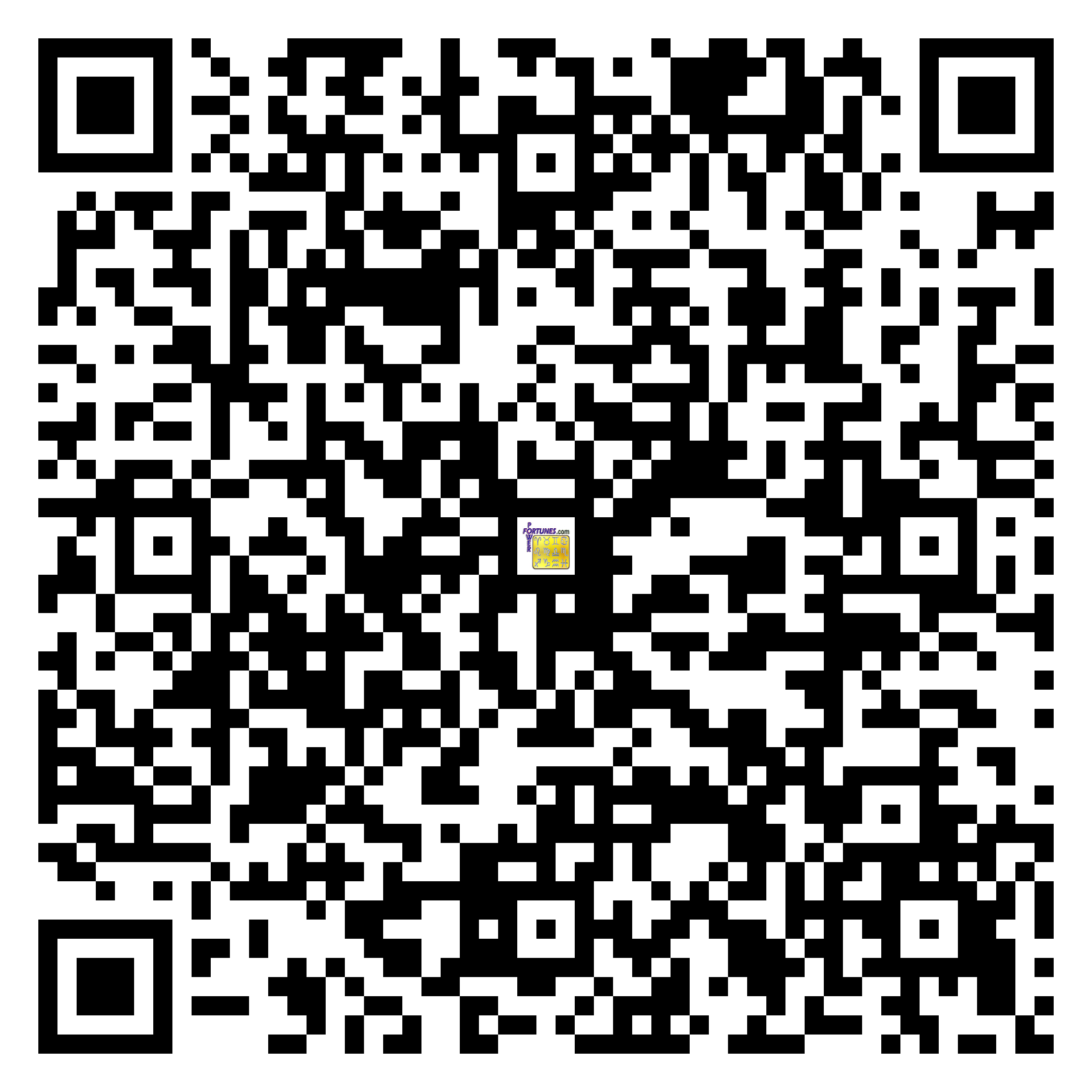 Download QR Code for PowerFortunes.com SKU# Pwr.fy100X156-m