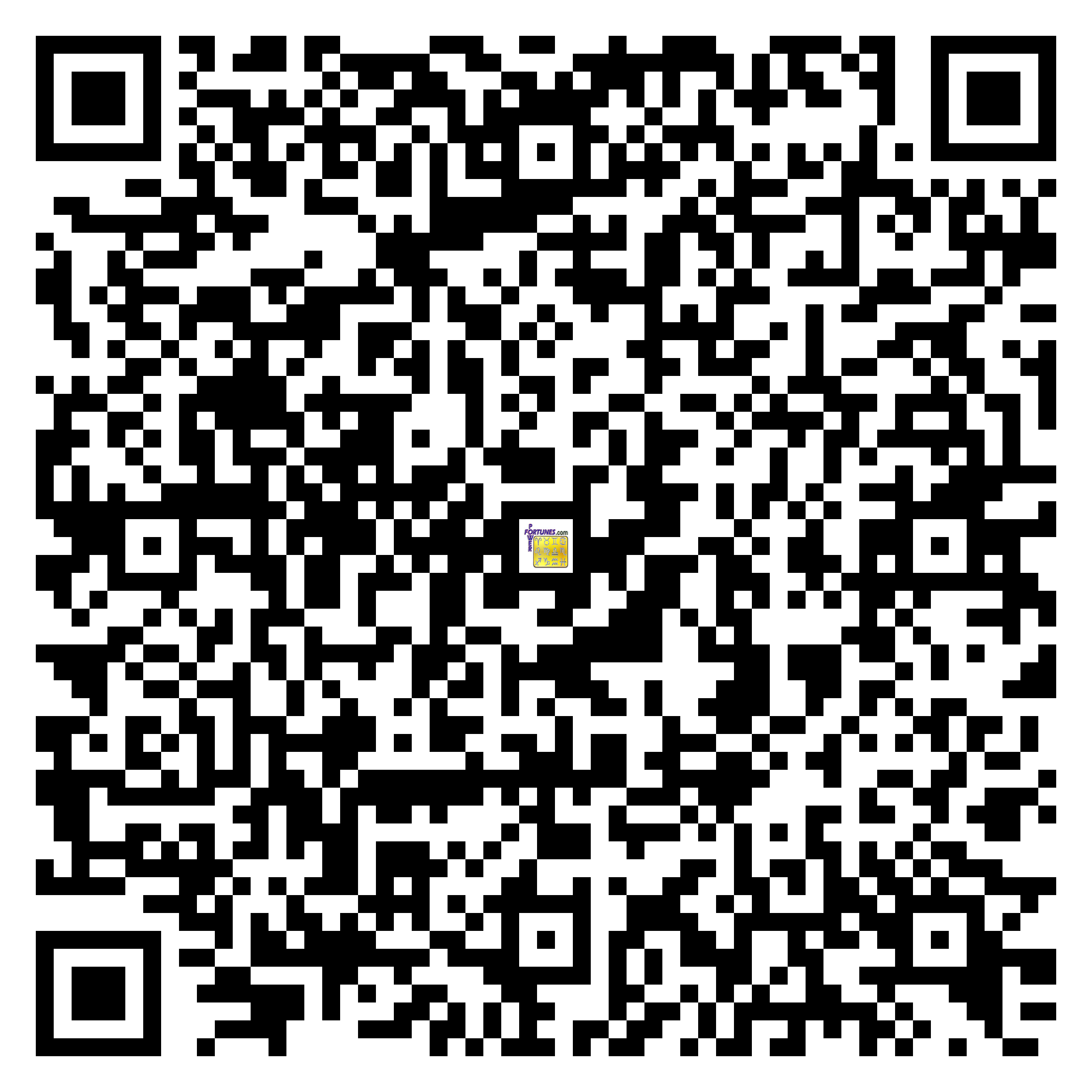 Download QR Code for PowerFortunes.com SKU# Pwr.fy10X20-m