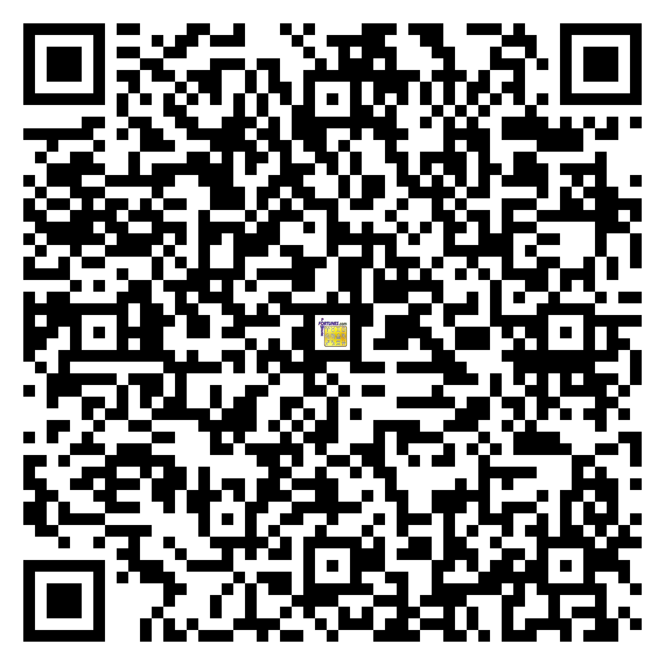 Download QR Code for PowerFortunes.com SKU# Pwr.fy13X15-m