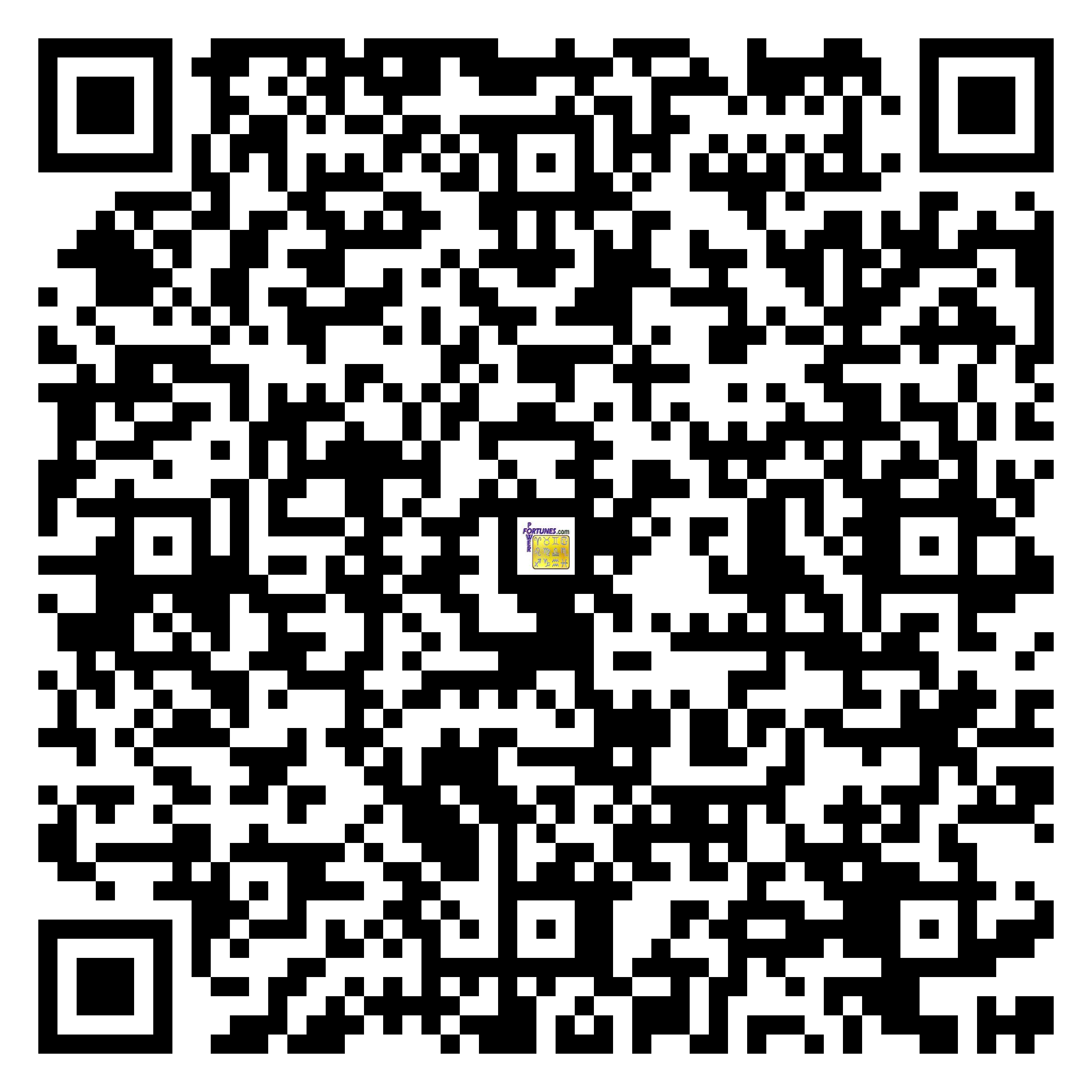 Download QR Code for PowerFortunes.com SKU# Pwr.fy14X12-m