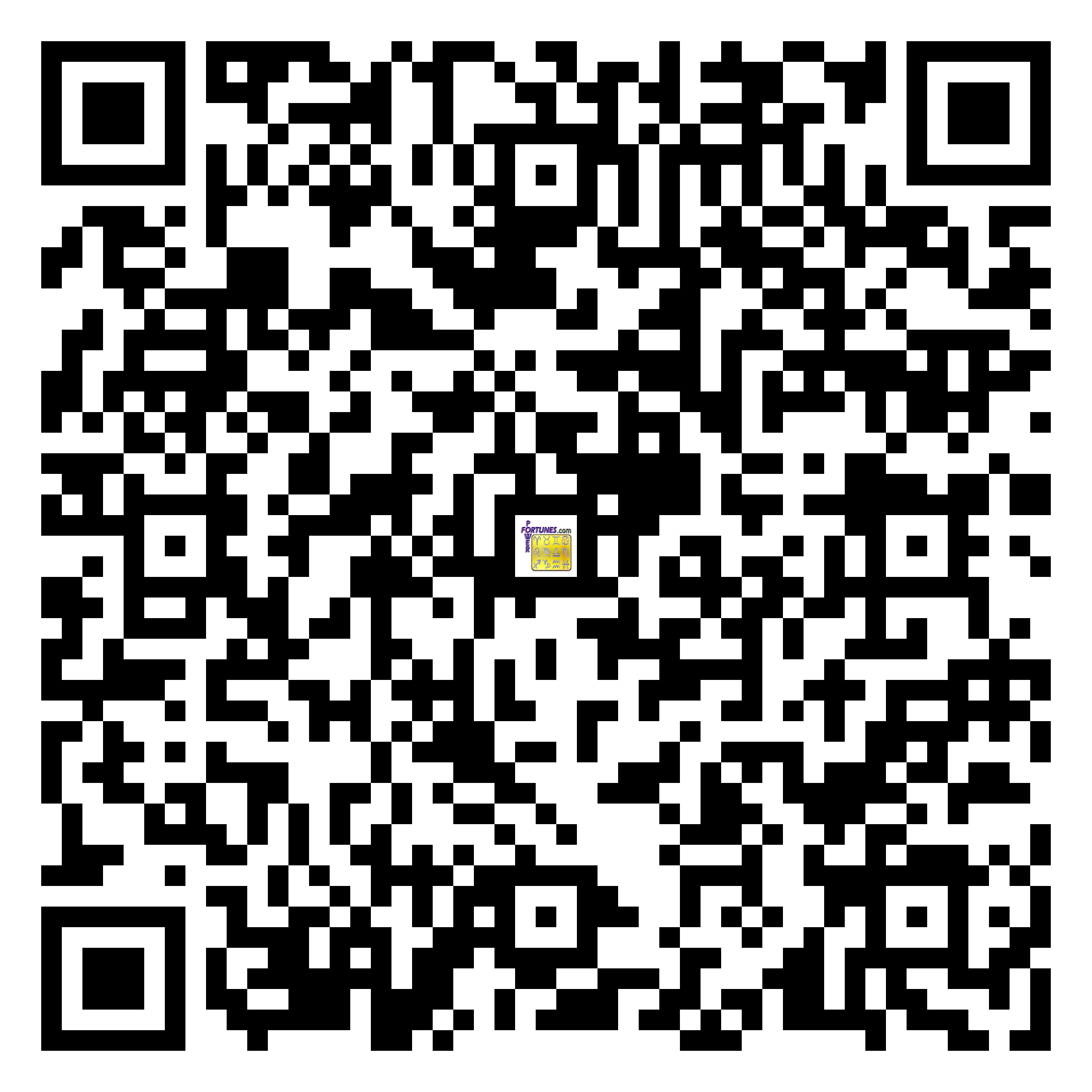 Download QR Code for PowerFortunes.com SKU# Pwr.fy15X13-m