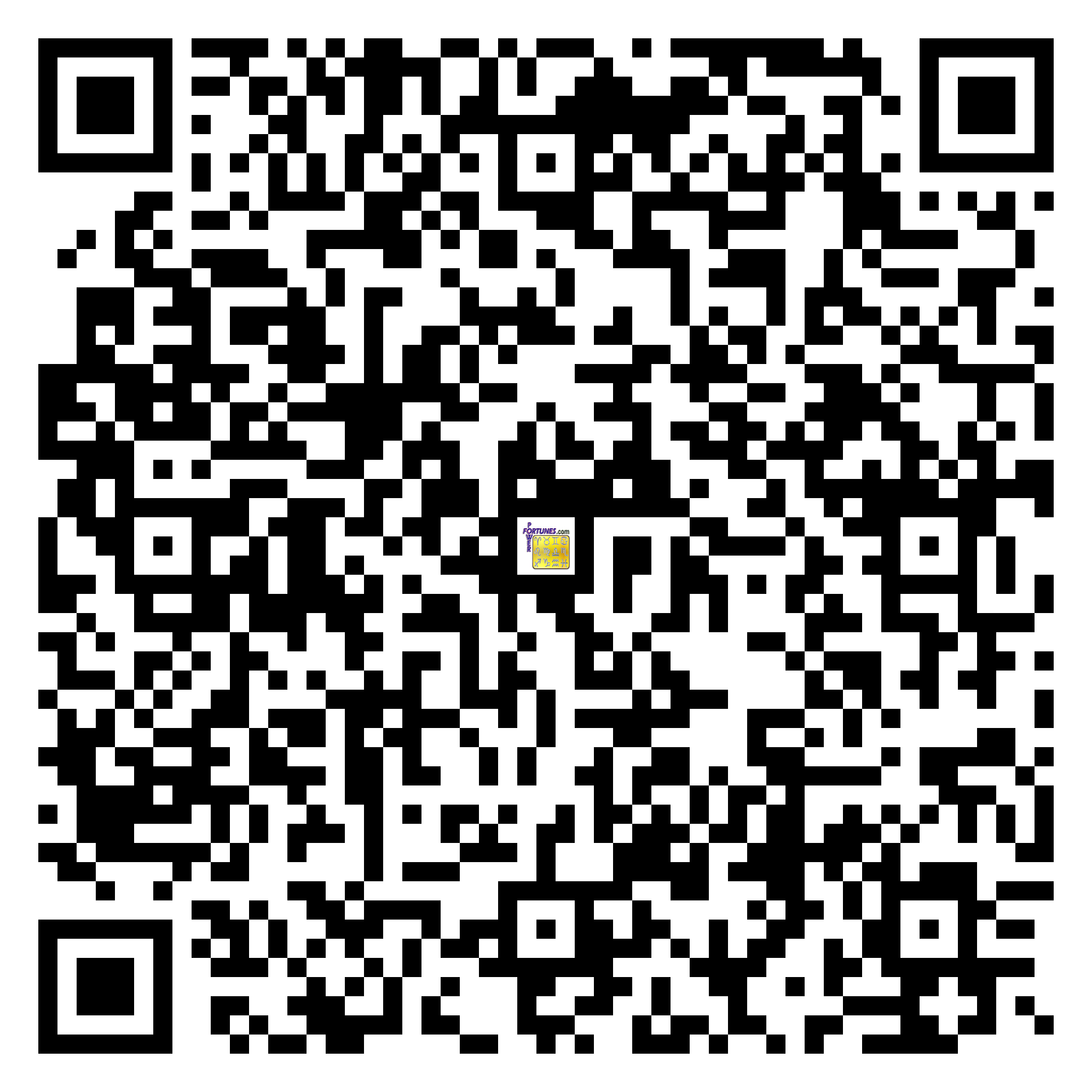 Download QR Code for PowerFortunes.com SKU# Pwr.fy16X18-m