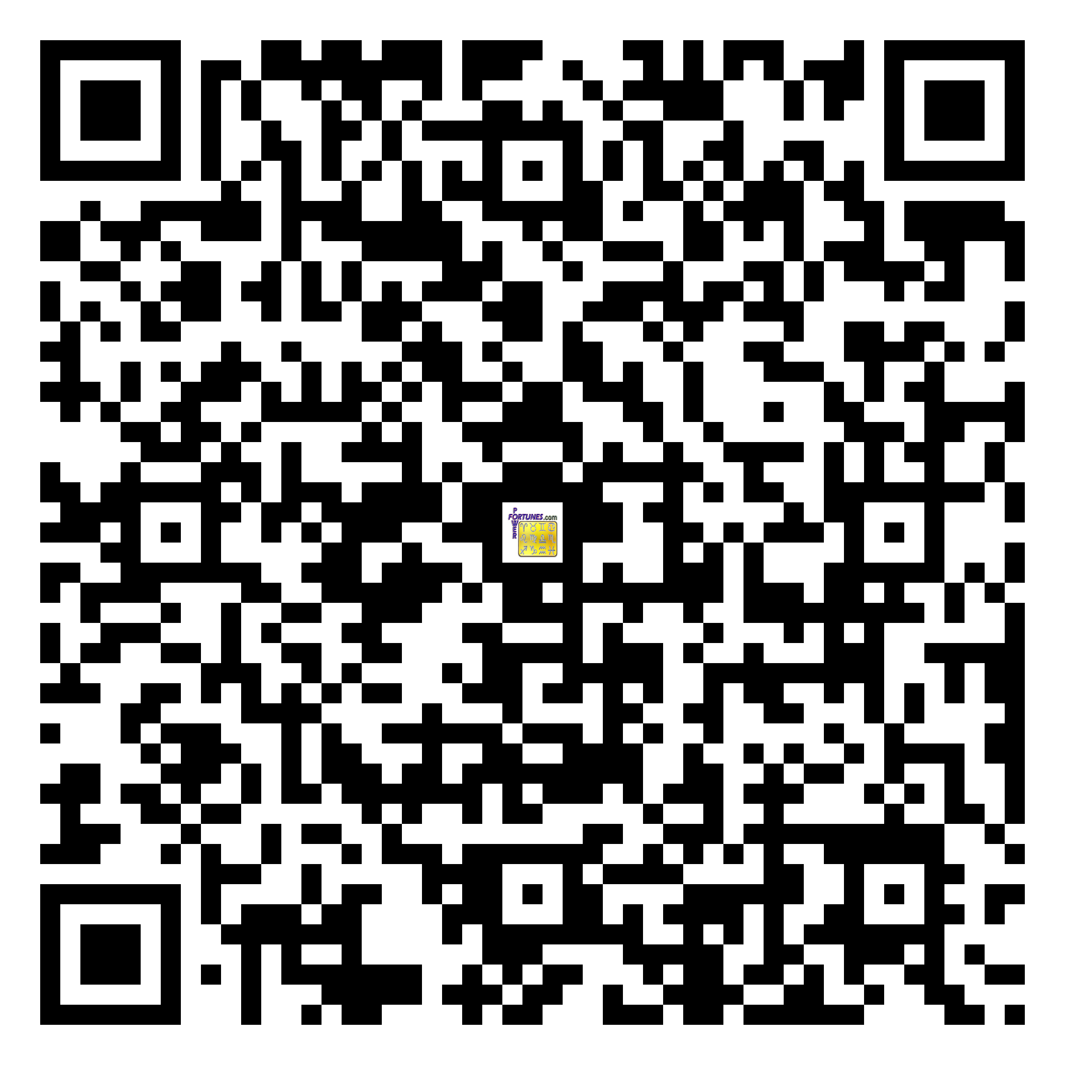 Download QR Code for PowerFortunes.com SKU# Pwr.fy21X35-m