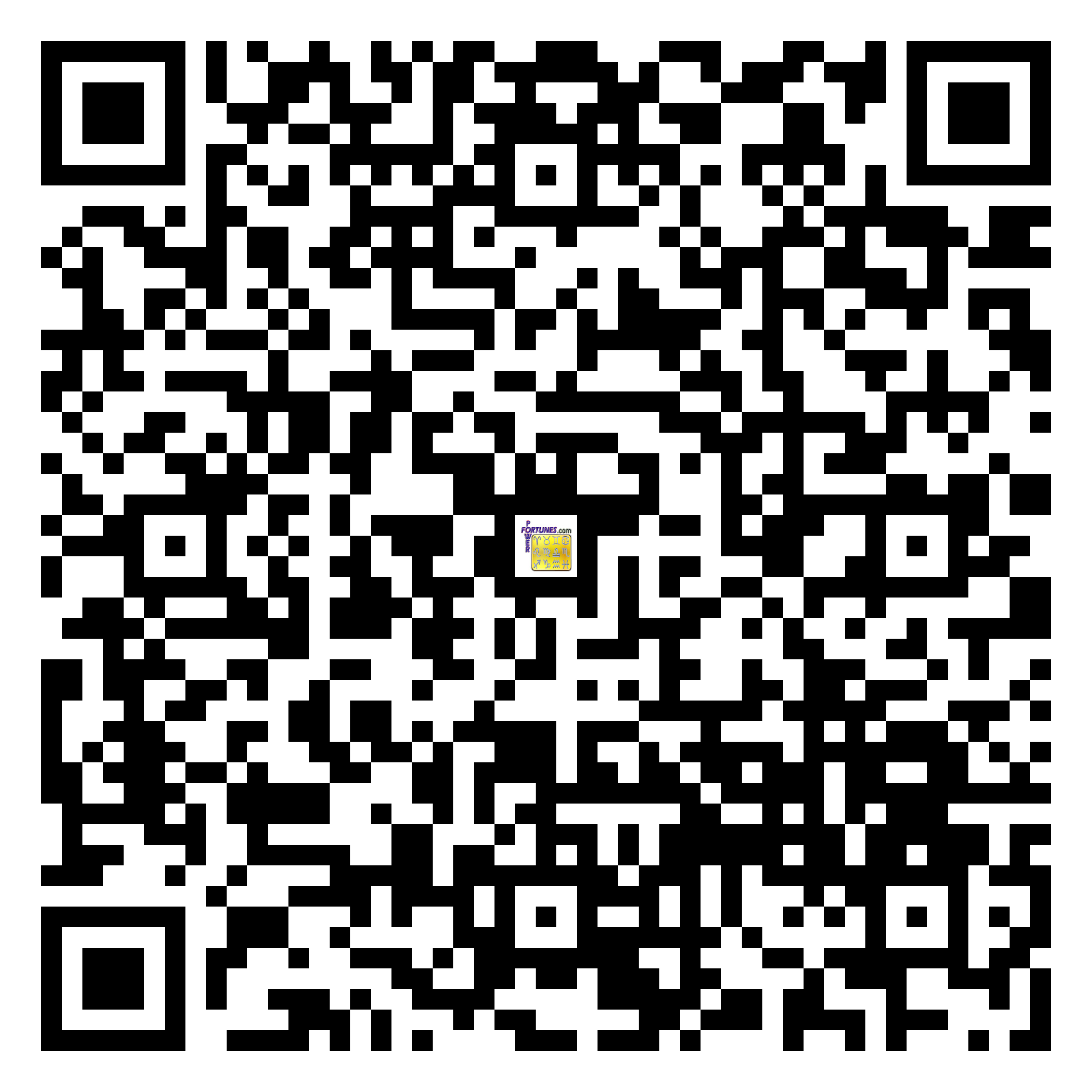 Download QR Code for PowerFortunes.com SKU# Pwr.fy22X48-m