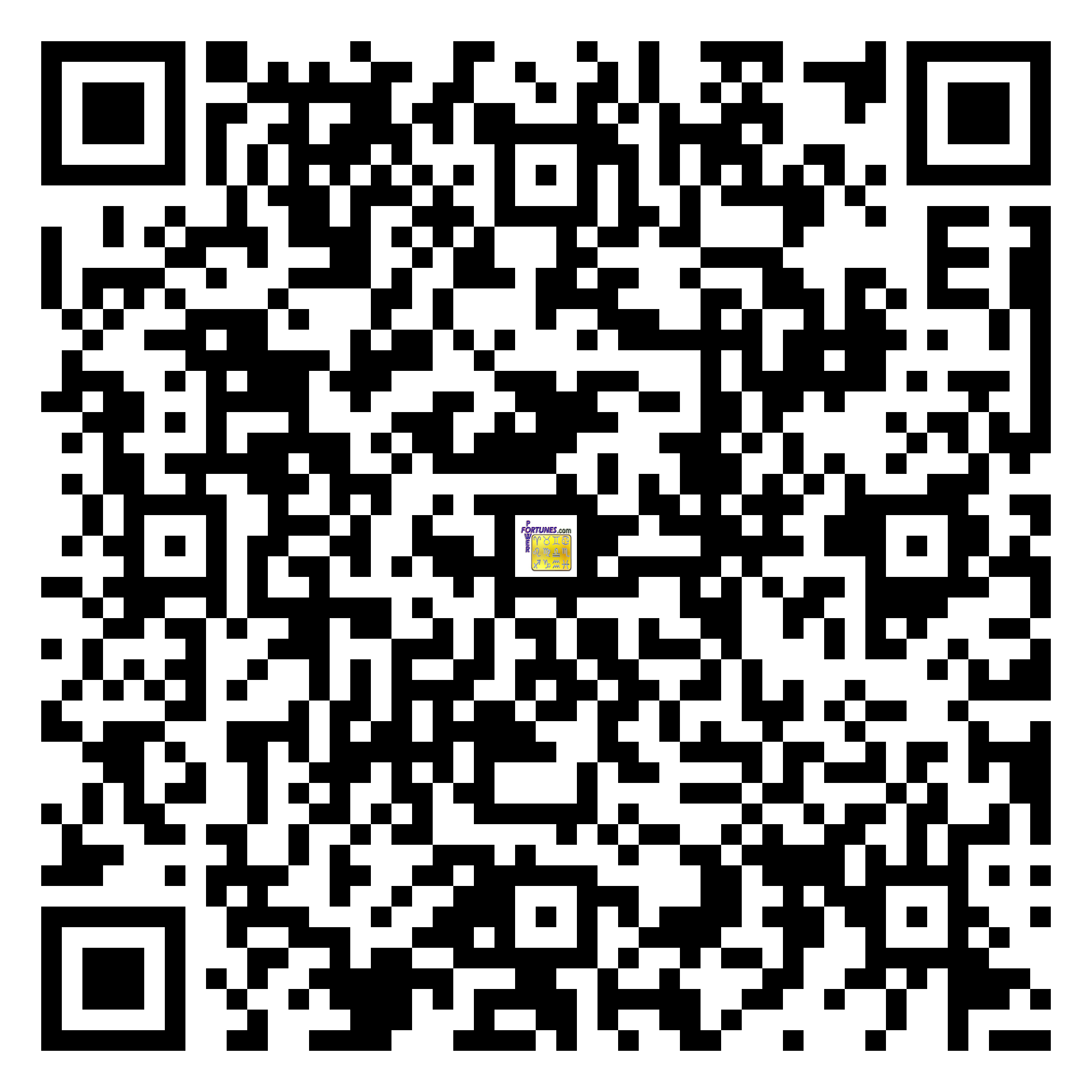 Download QR Code for PowerFortunes.com SKU# Pwr.fy24X37-m