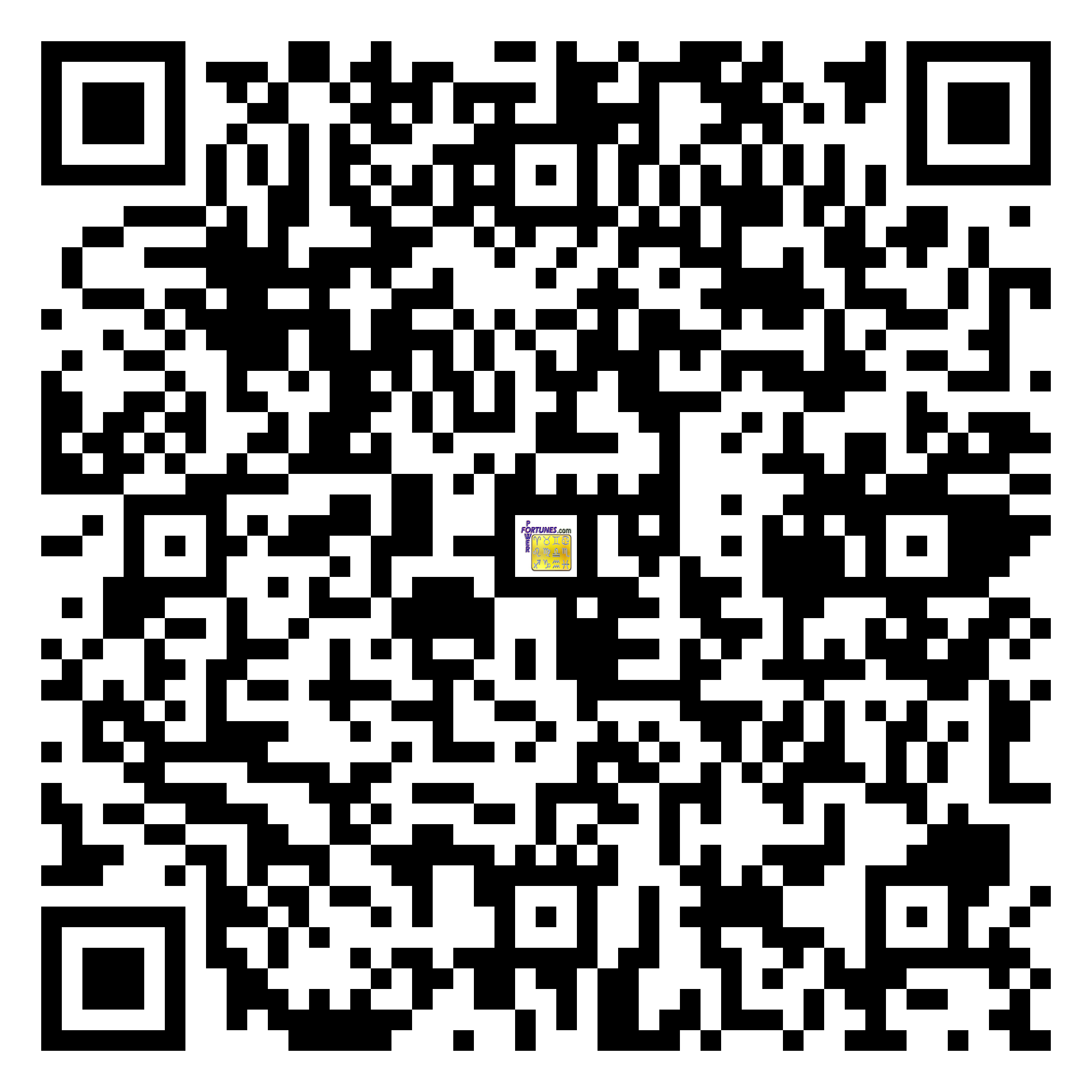 Download QR Code for PowerFortunes.com SKU# Pwr.fy25X38-m