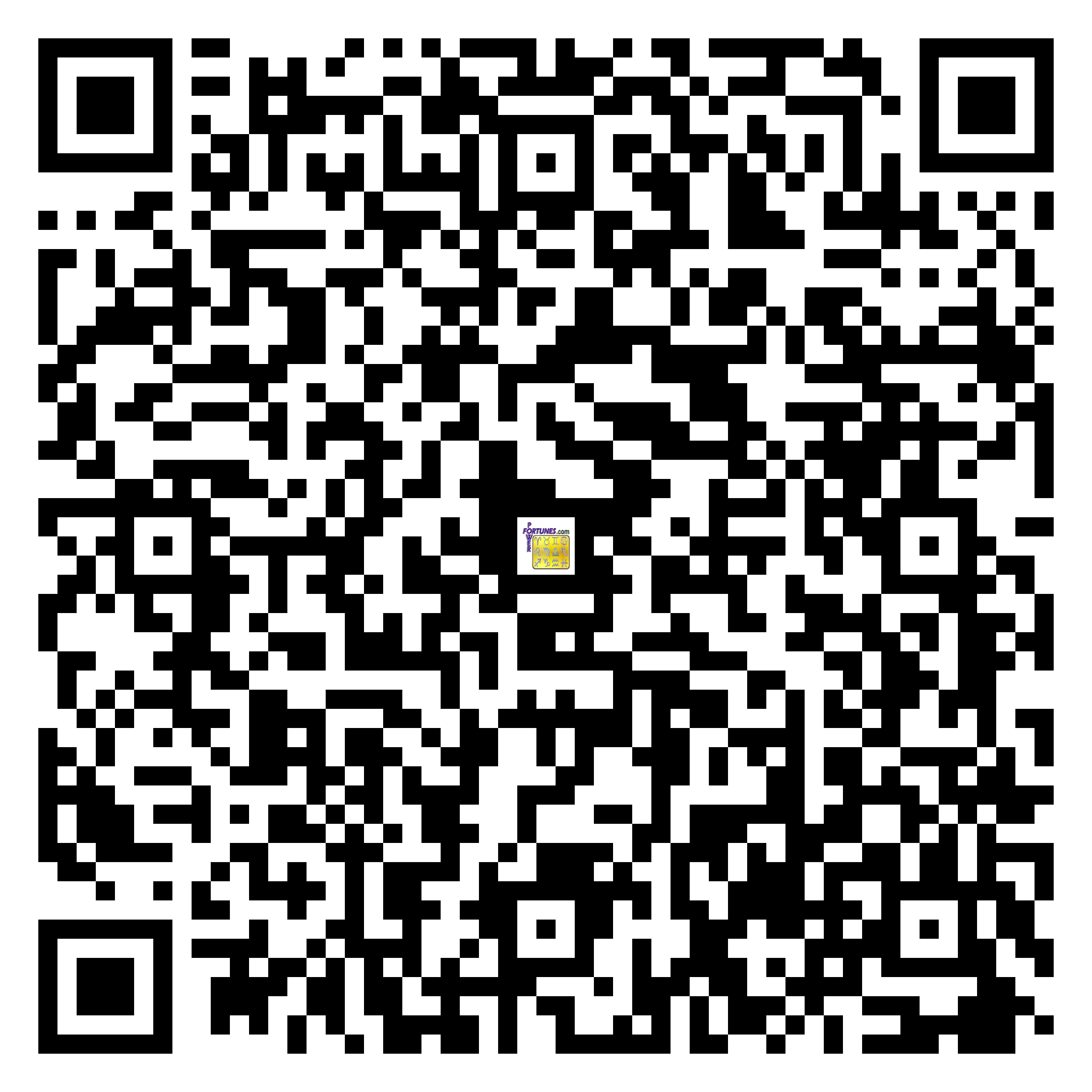 Download QR Code for PowerFortunes.com SKU# Pwr.fy32X170-m