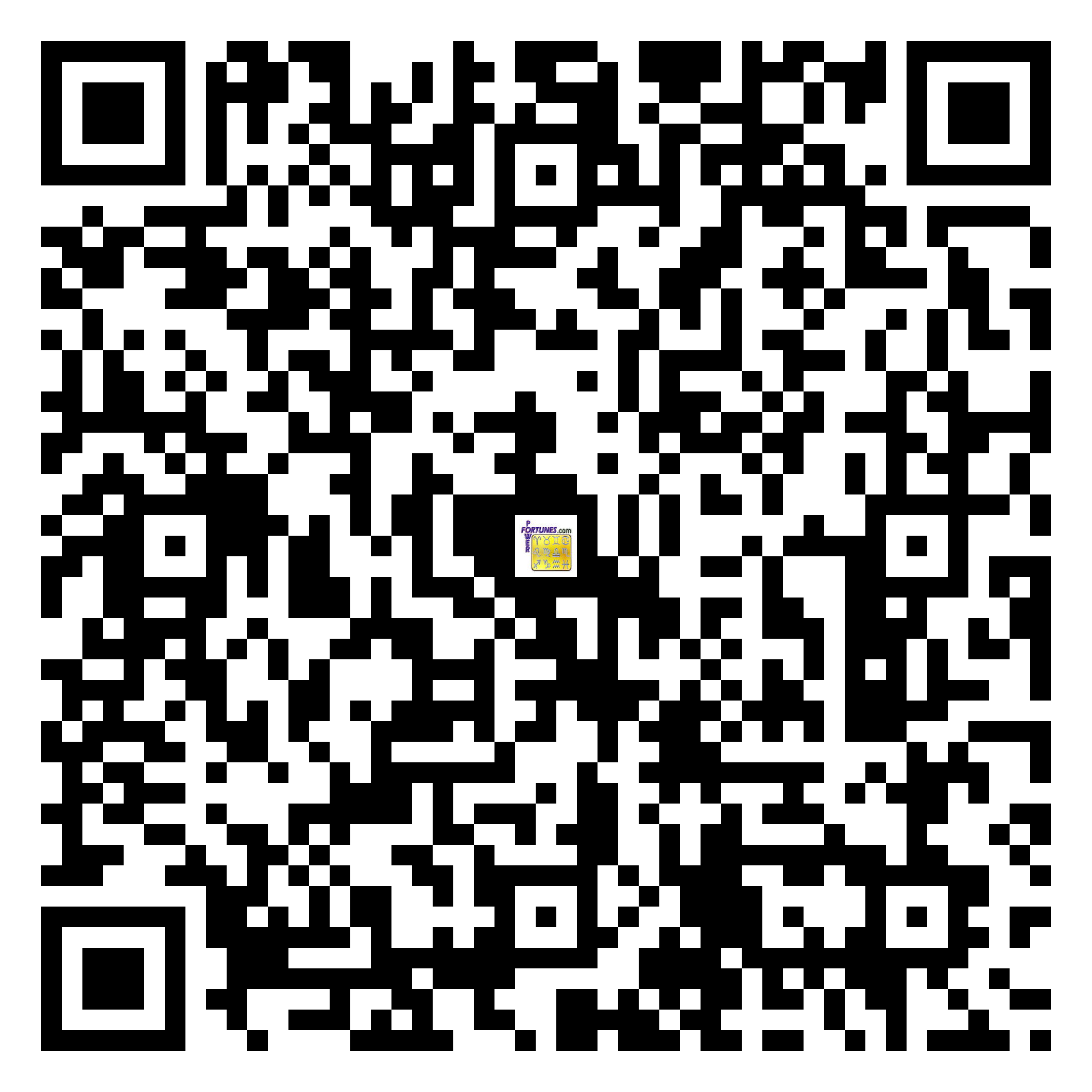 Download QR Code for PowerFortunes.com SKU# Pwr.fy34X45-m