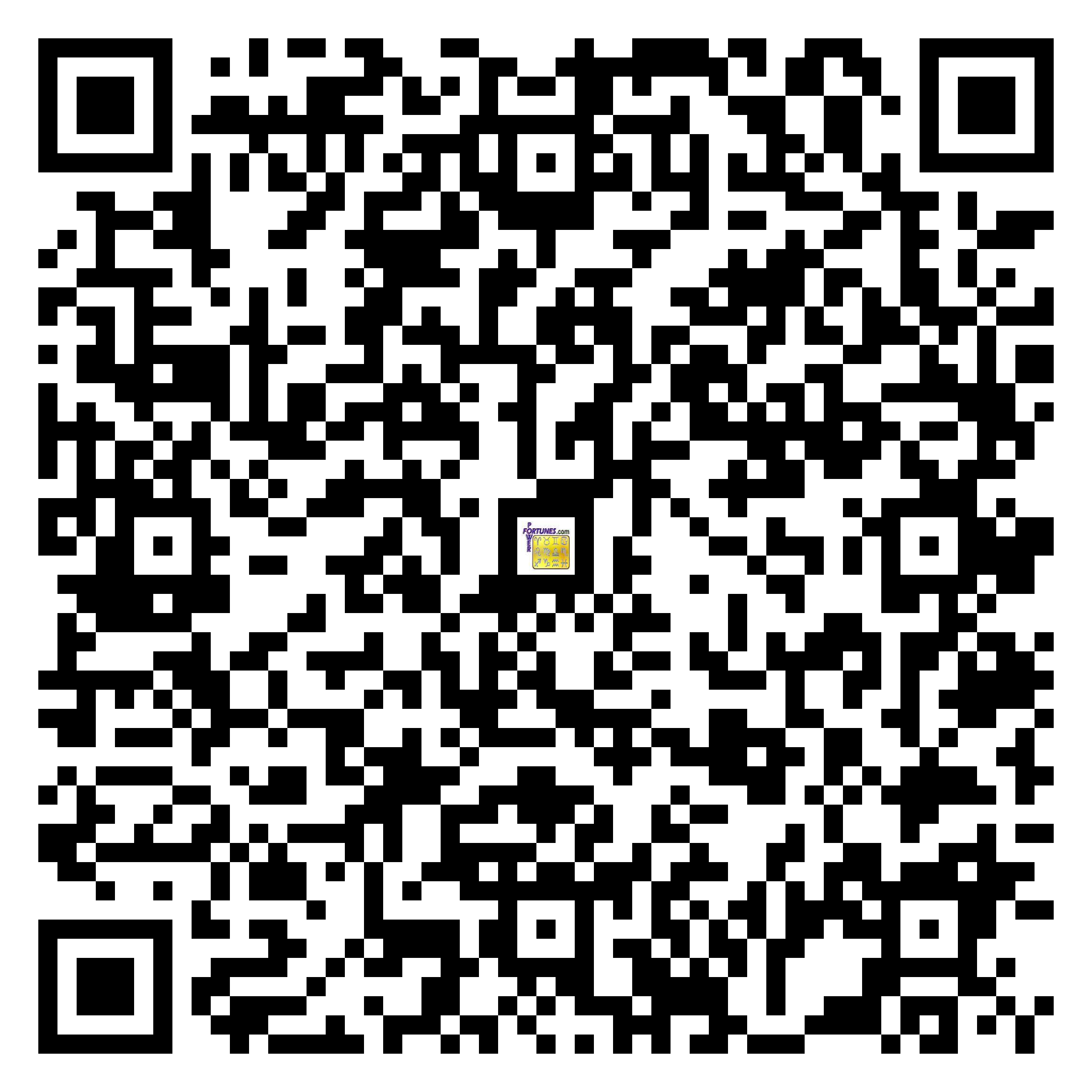 Download QR Code for PowerFortunes.com SKU# Pwr.fy35X46-m