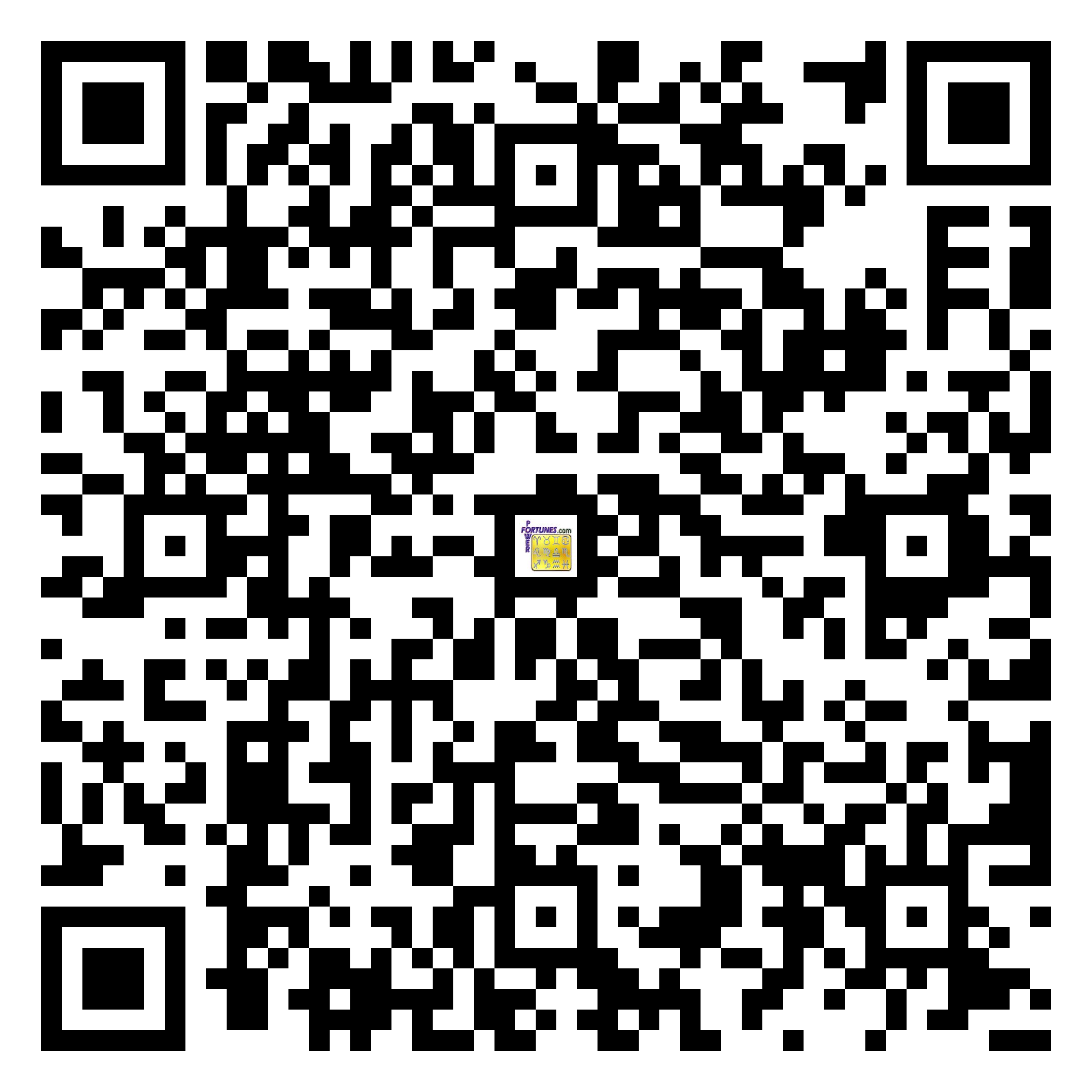 Download QR Code for PowerFortunes.com SKU# Pwr.fy36X22-m