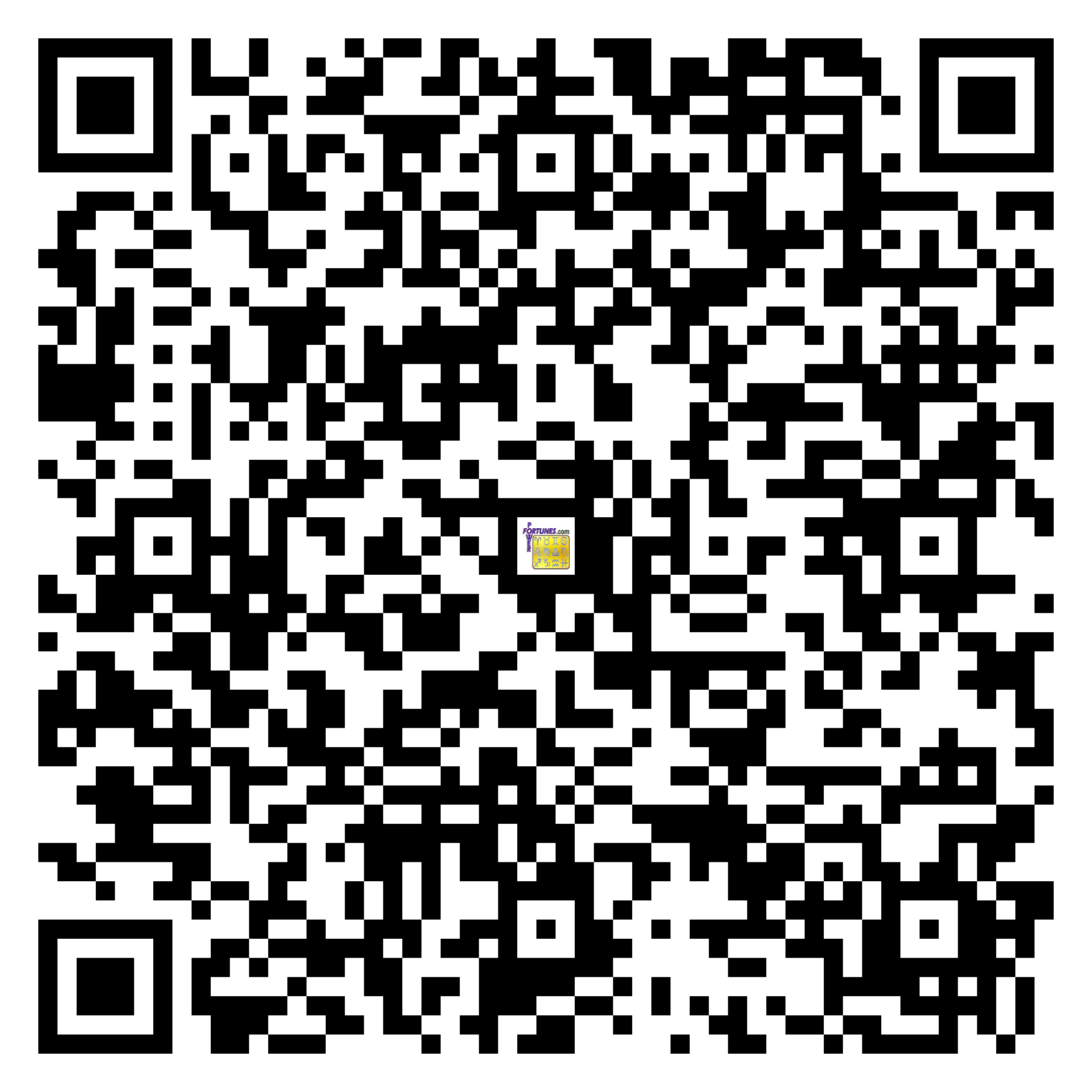 Download QR Code for PowerFortunes.com SKU# Pwr.fy38X24-m