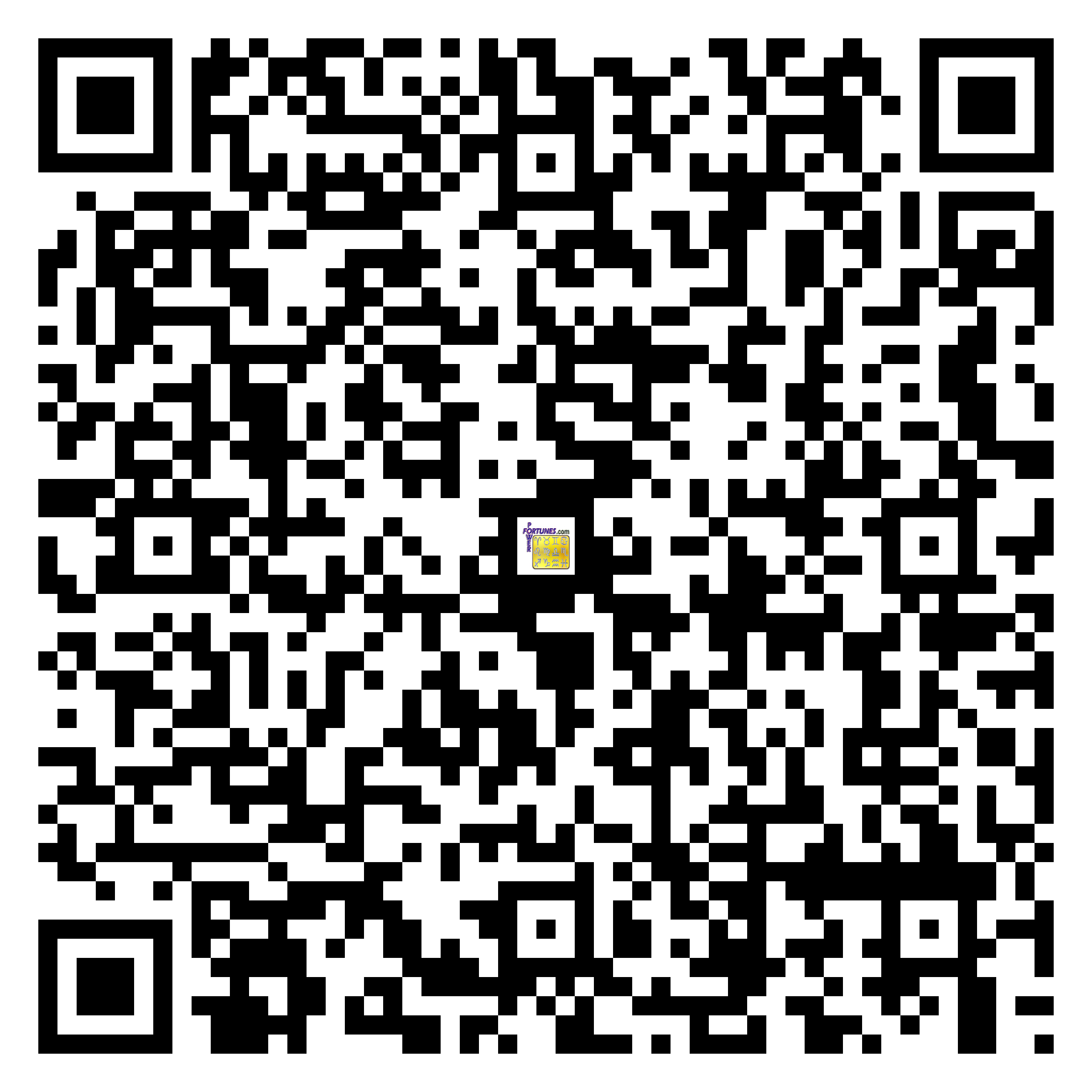 Download QR Code for PowerFortunes.com SKU# Pwr.fy40X26-m