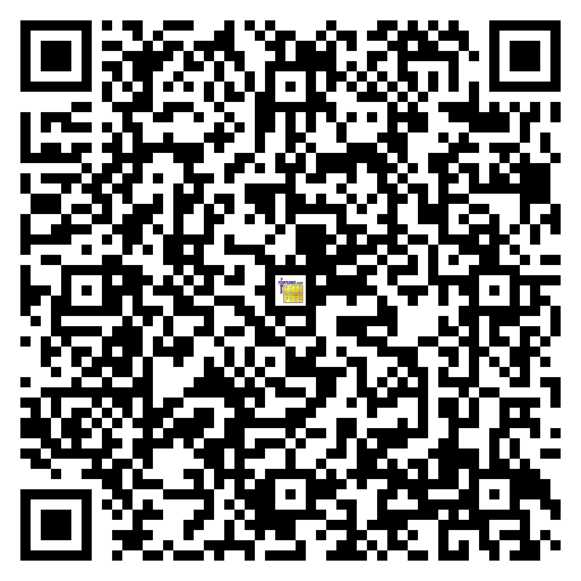 Download QR Code for PowerFortunes.com SKU# Pwr.fy43X173-s