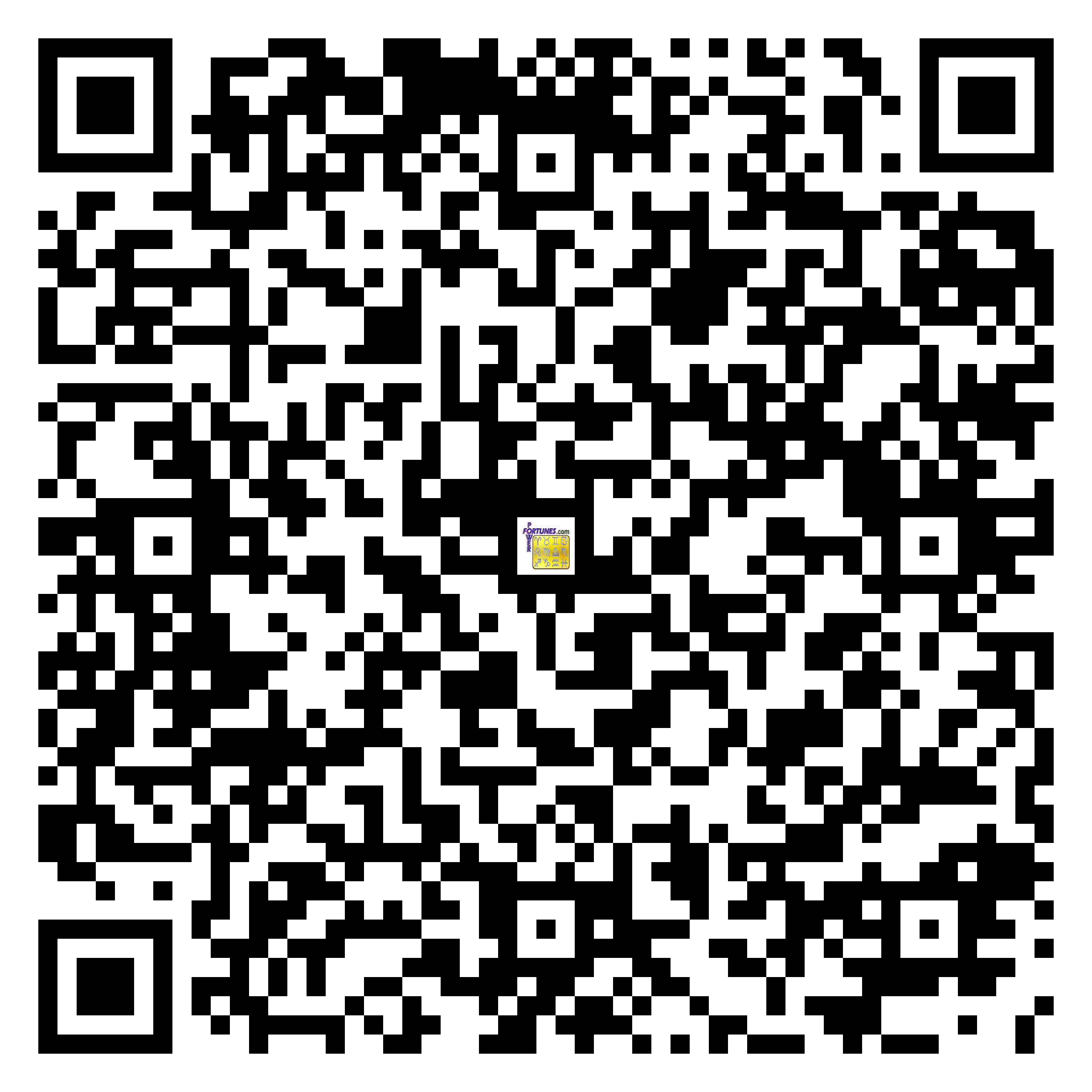 Download QR Code for PowerFortunes.com SKU# Pwr.fy92X148-m