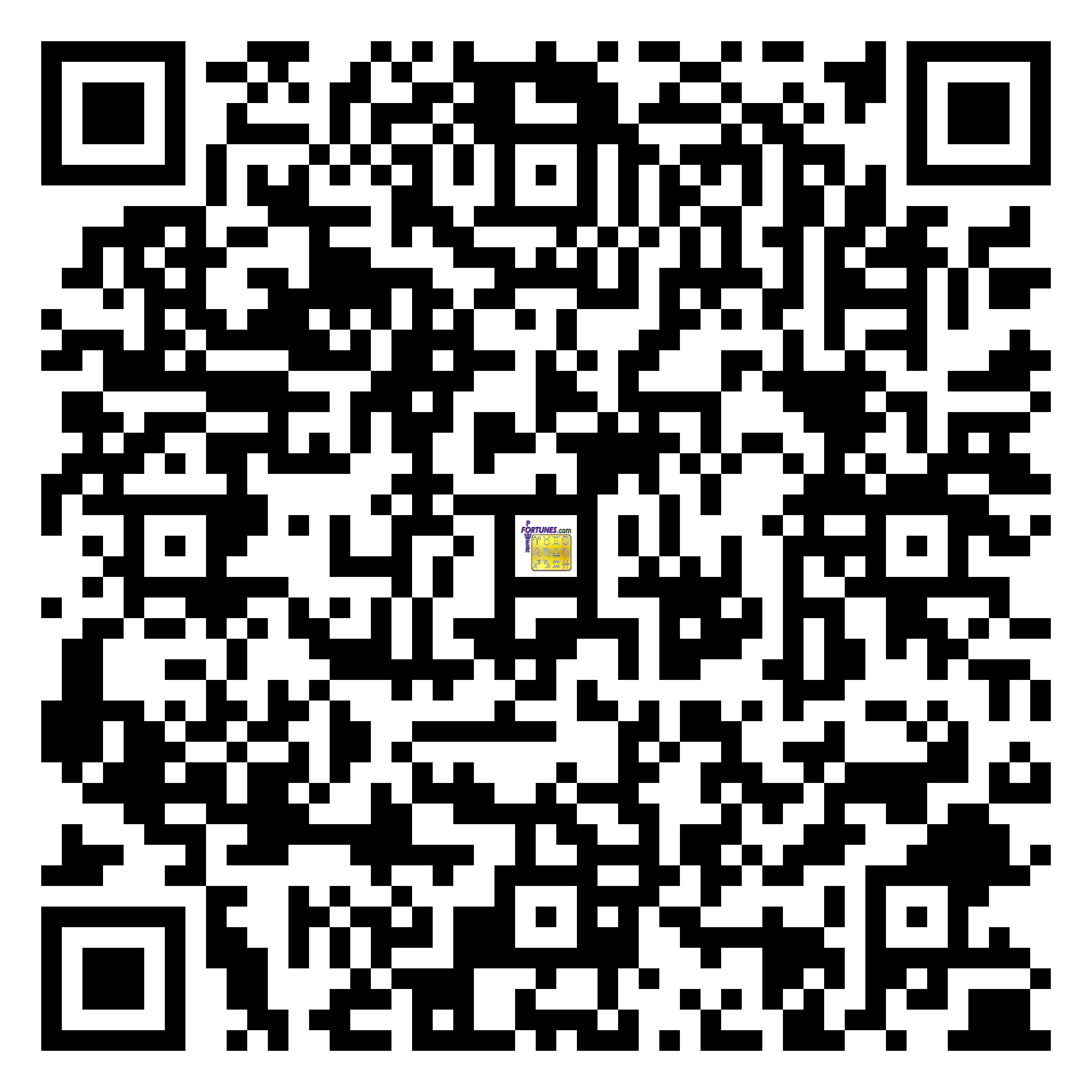 Download QR Code for PowerFortunes.com SKU# Pwr.fy94X150-m