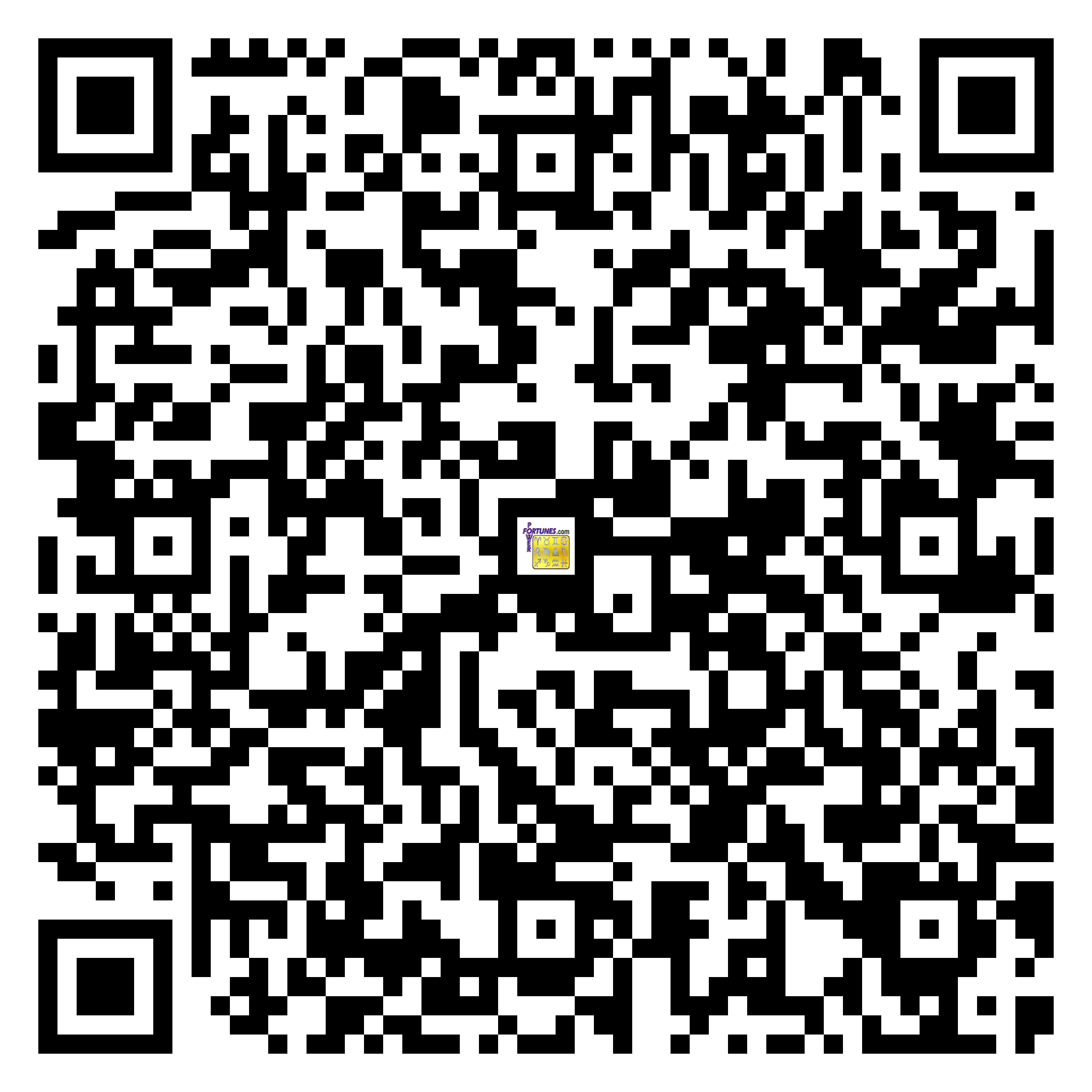 Download QR Code for PowerFortunes.com SKU# Pwr.fy95X151-m