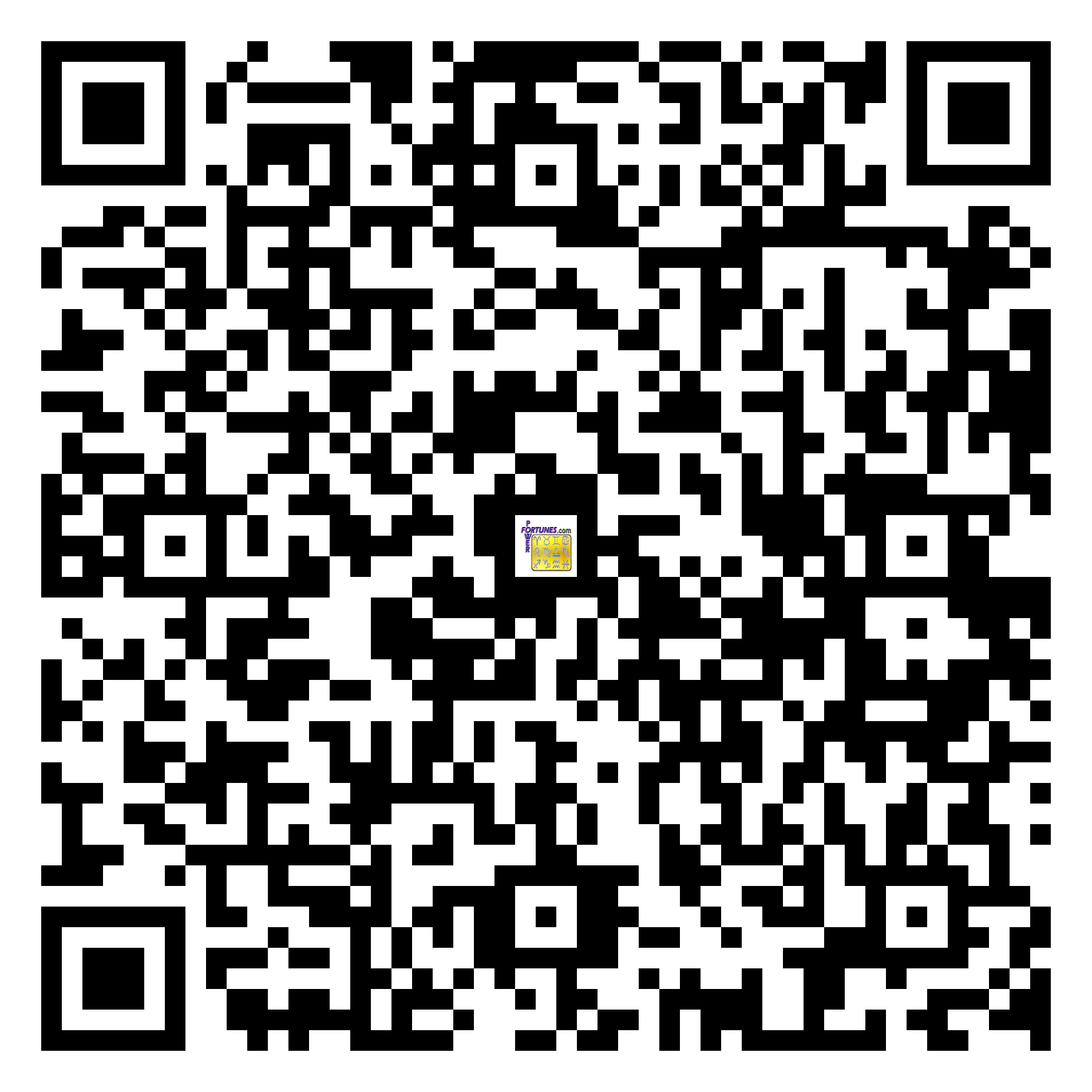 Download QR Code for PowerFortunes.com SKU# Pwr.fy96X157-m