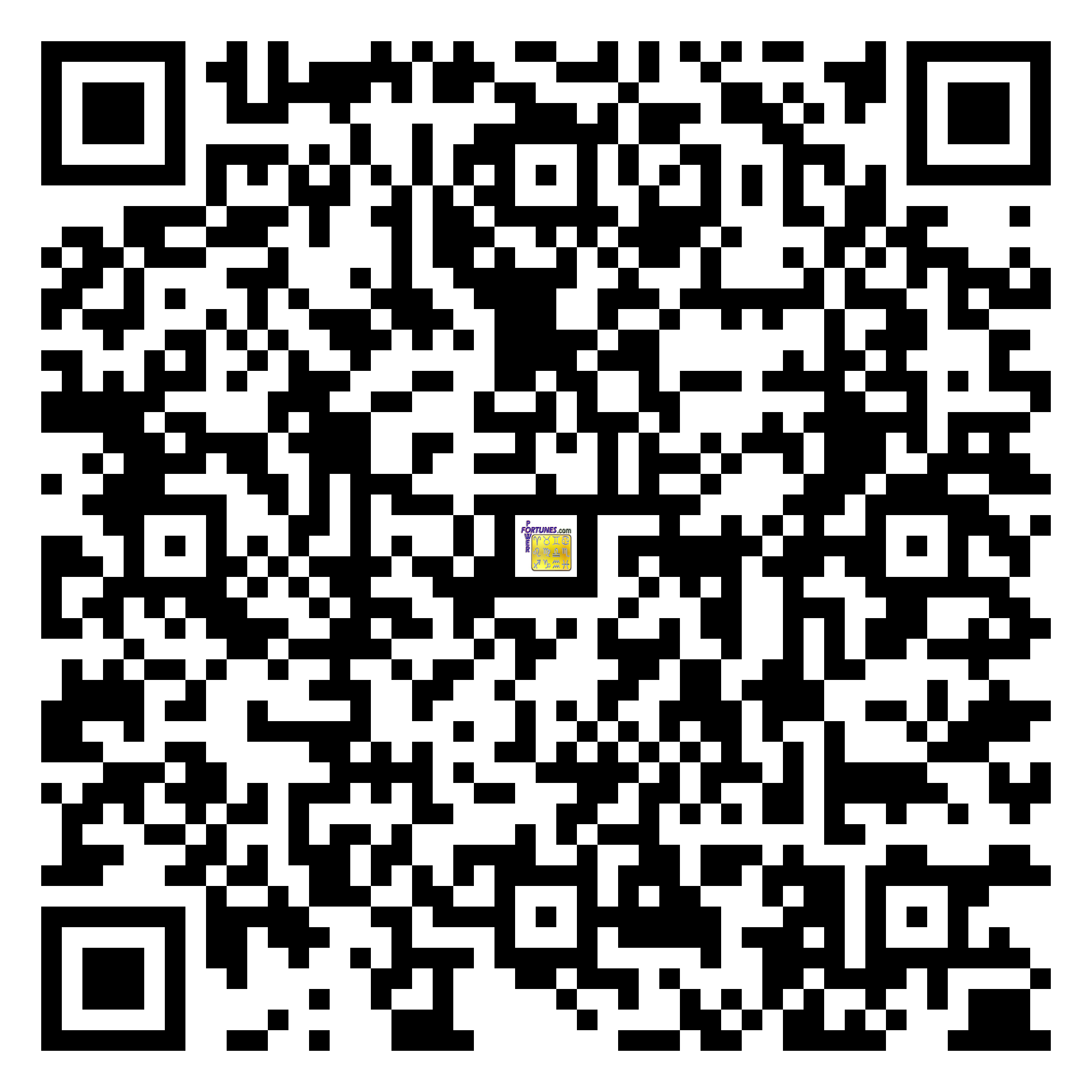 Download QR Code for PowerFortunes.com SKU# Pwr.fy98X154-m