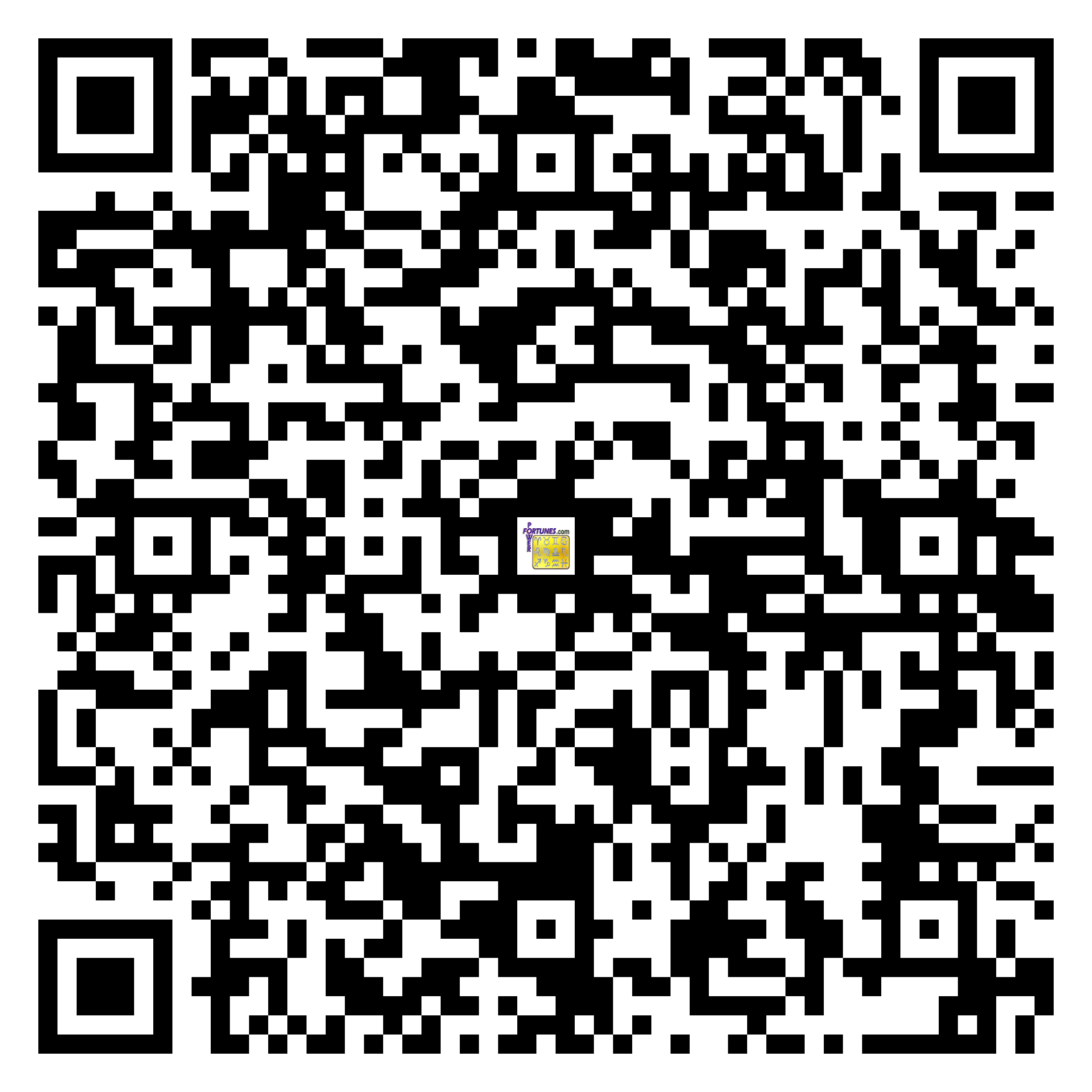 Download QR Code for PowerFortunes.com SKU# Pwr.fy99X159-m