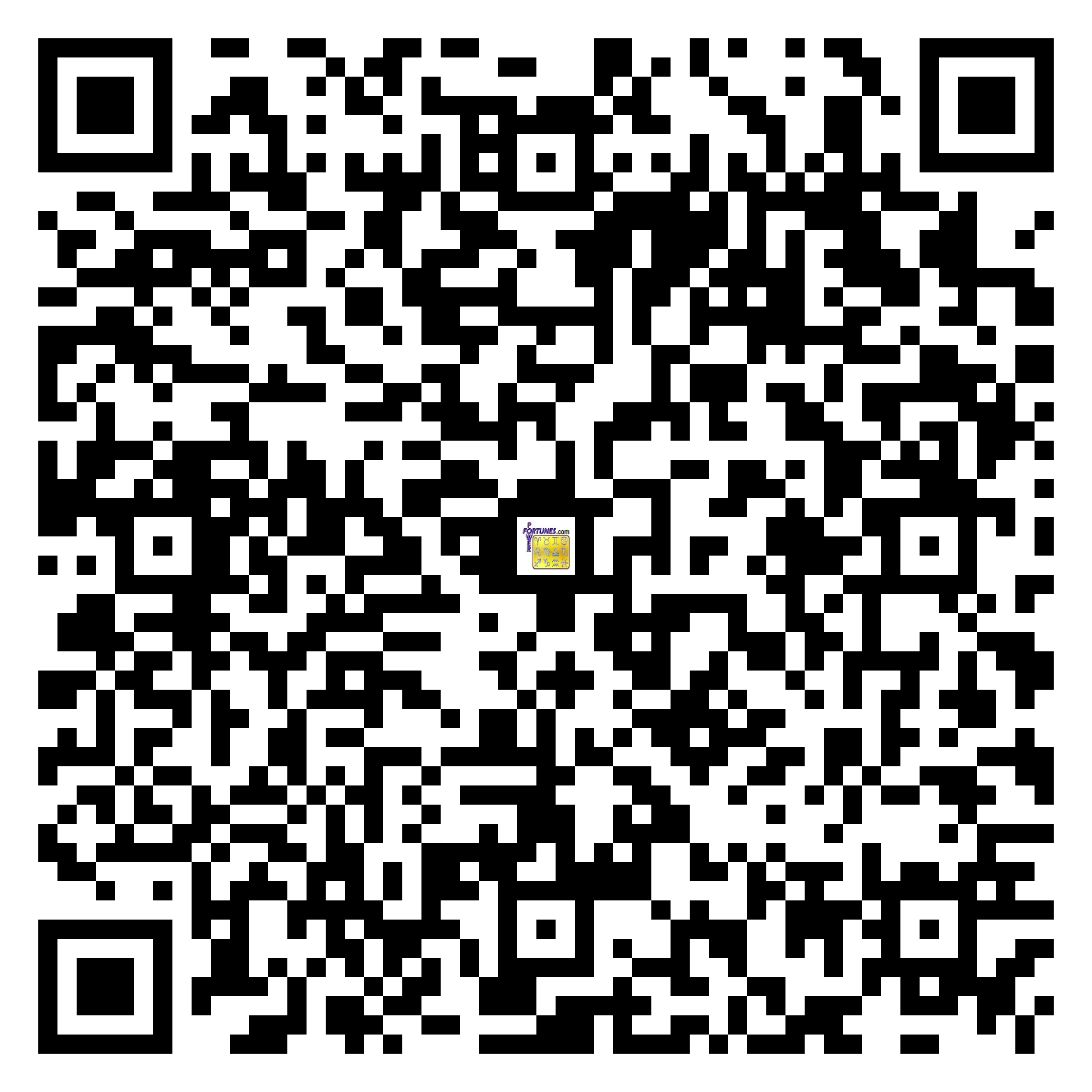 Download QR Code for PowerFortunes.com SKU# Pwr.kr67X91-s