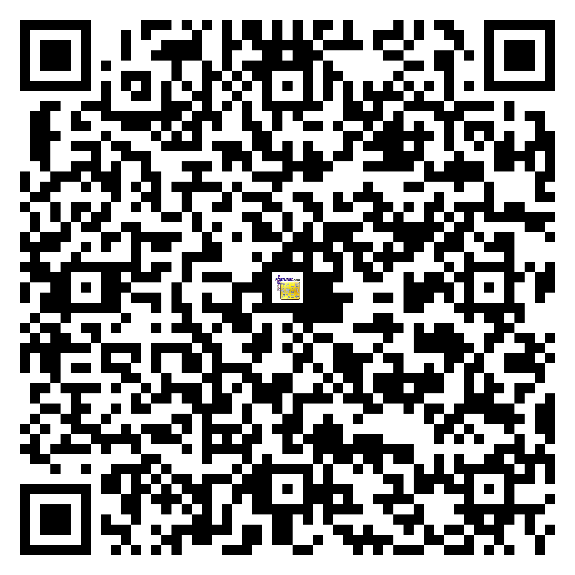 Download QR Code for PowerFortunes.com SKU# Pwr.lk106X65-s