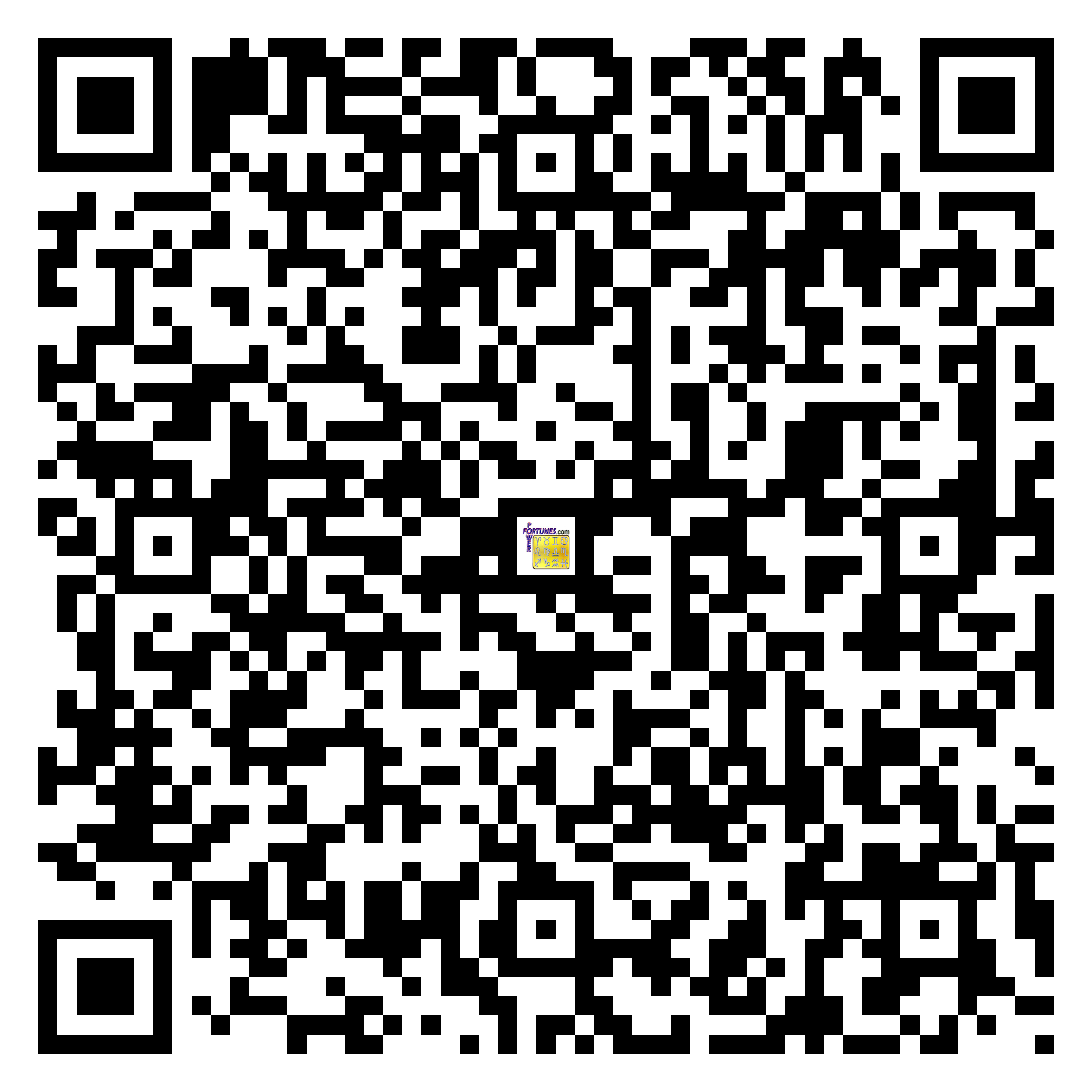 Download QR Code for PowerFortunes.com SKU# Pwr.lk52X168-m