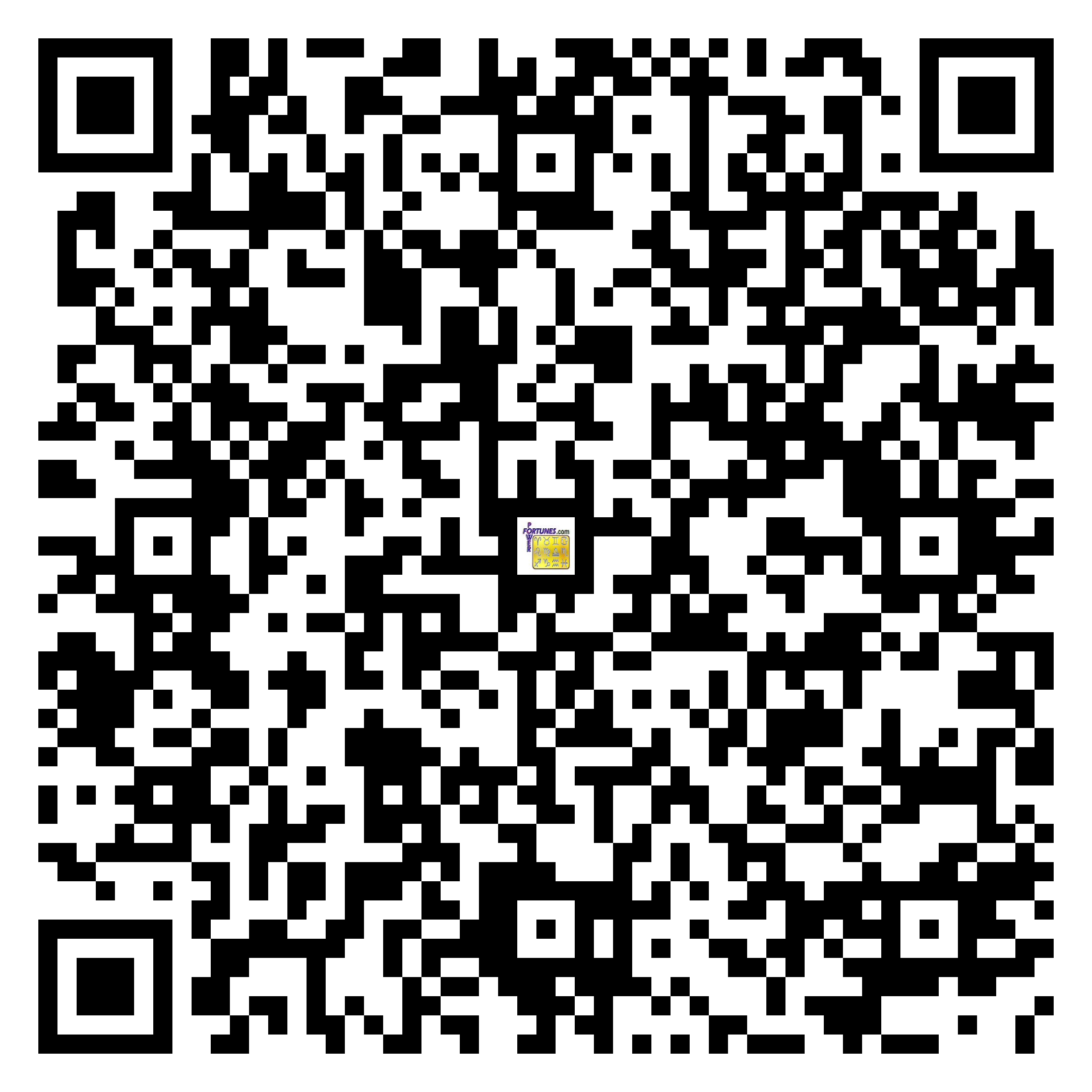 Download QR Code for PowerFortunes.com SKU# Pwr.lk54X115-s